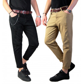 Pantaloni Strappati Uomo...