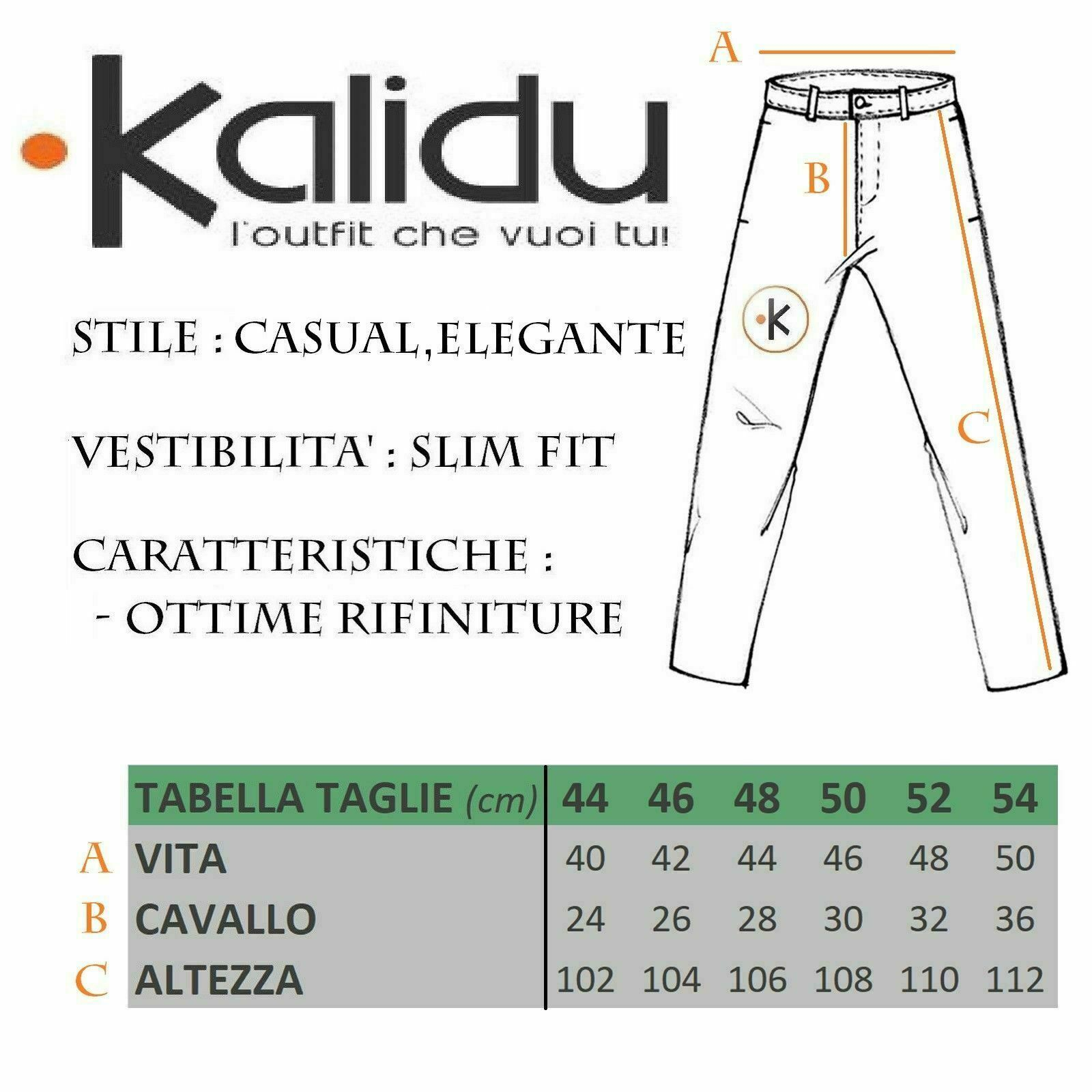 Pantalone-Uomo-Chino-Primaverile-slim-fit-Pantaloni-Eleganti-Blu-Verde-Nero miniatura 17