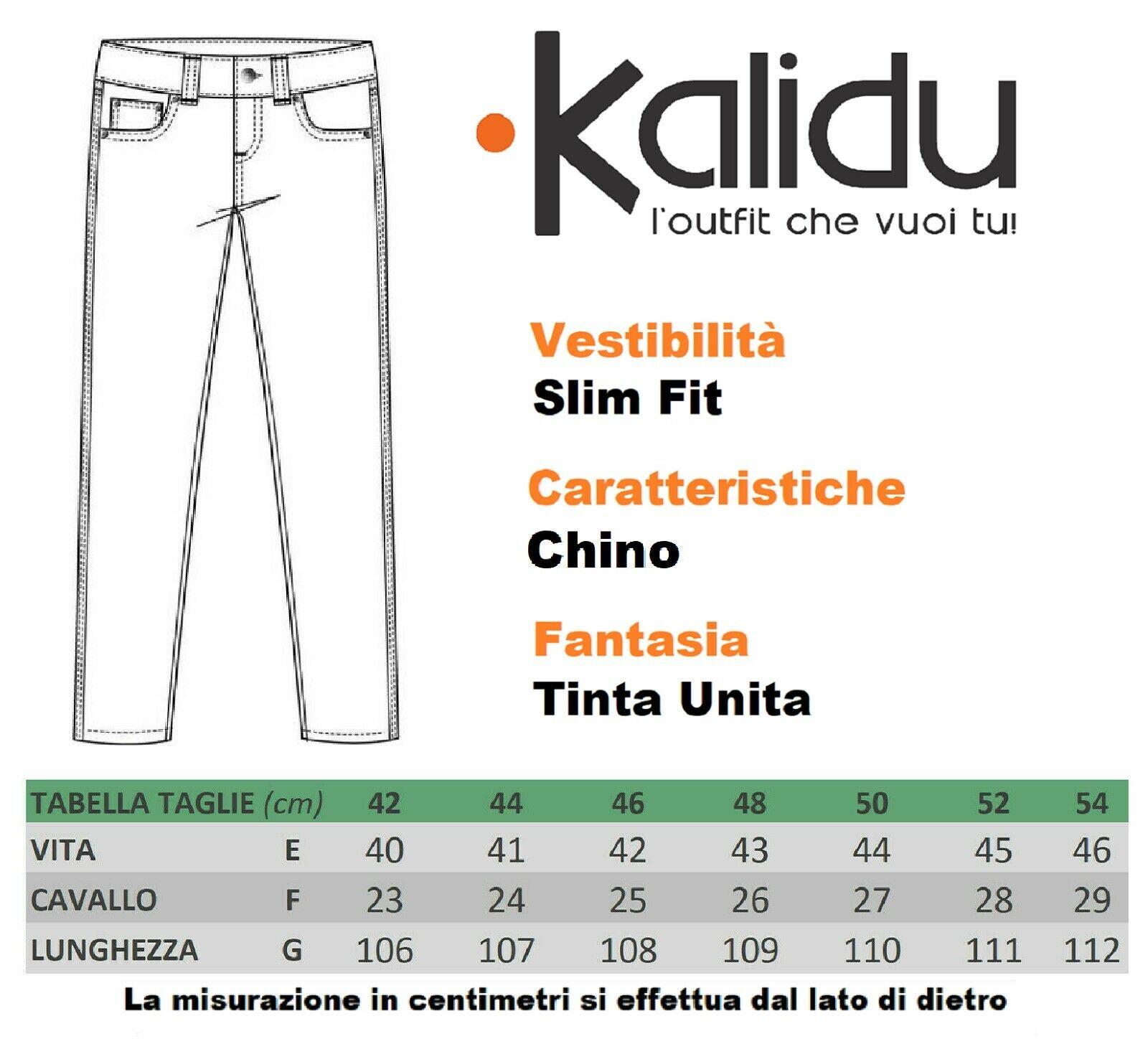Pantalone-Uomo-Chino-Slim-fit-Primaverile-tasca-america-Bianco-Grigio-Senape-Bei miniatura 16