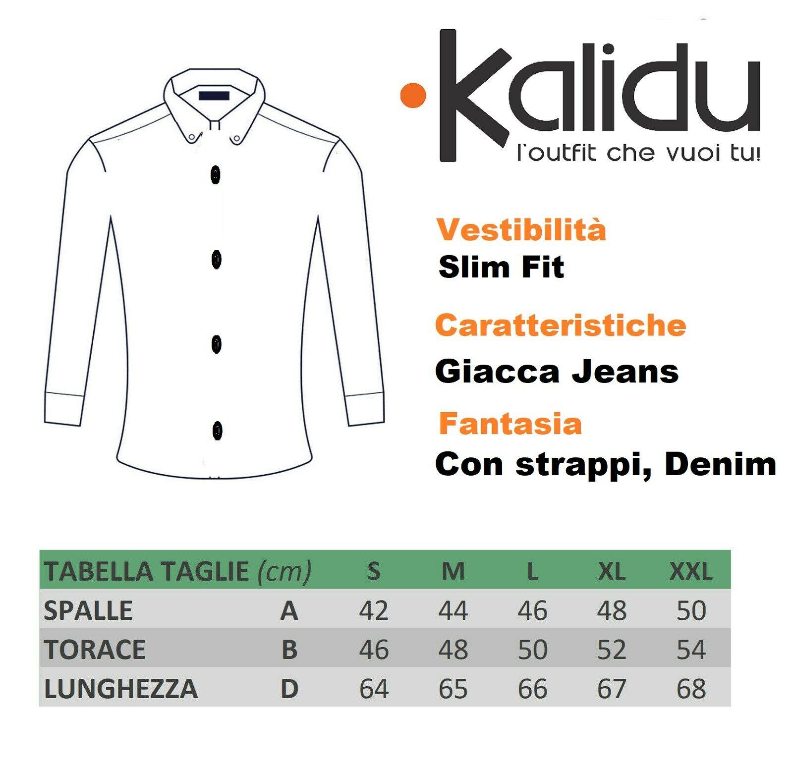 Giubbino-Uomo-Jeans-Giubbotto-Nero-Vintage-Giacca-Slim-fit-Denim-Casual miniatura 10