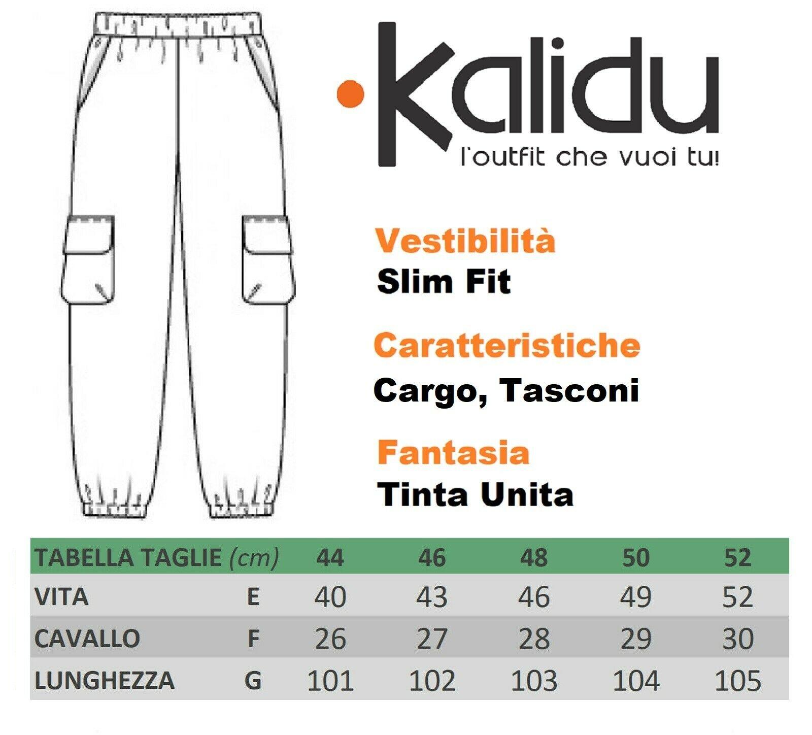 Pantalone-Uomo-Cargo-Con-Tasconi-Invernale-Verde-Blu-Nero-Marrone-Pantaloni-slim miniatura 16