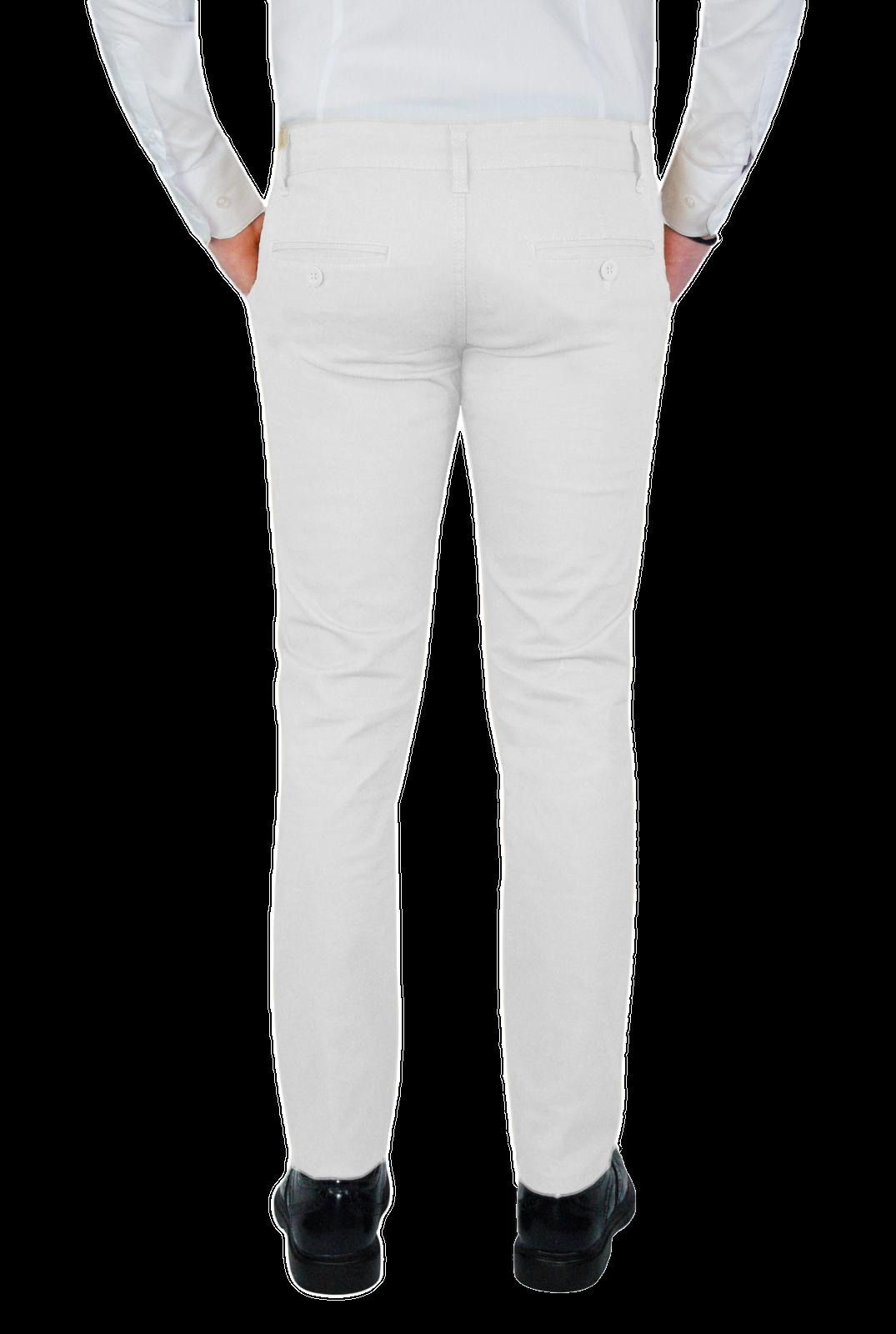 Pantalone-Uomo-Chino-Slim-fit-Primaverile-tasca-america-Bianco-Grigio-Senape-Bei miniatura 14