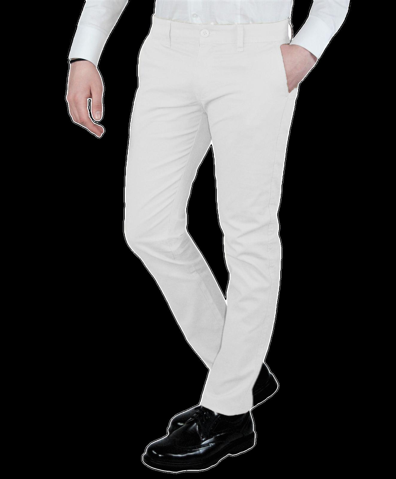 Pantalone-Uomo-Chino-Slim-fit-Primaverile-tasca-america-Bianco-Grigio-Senape-Bei miniatura 15