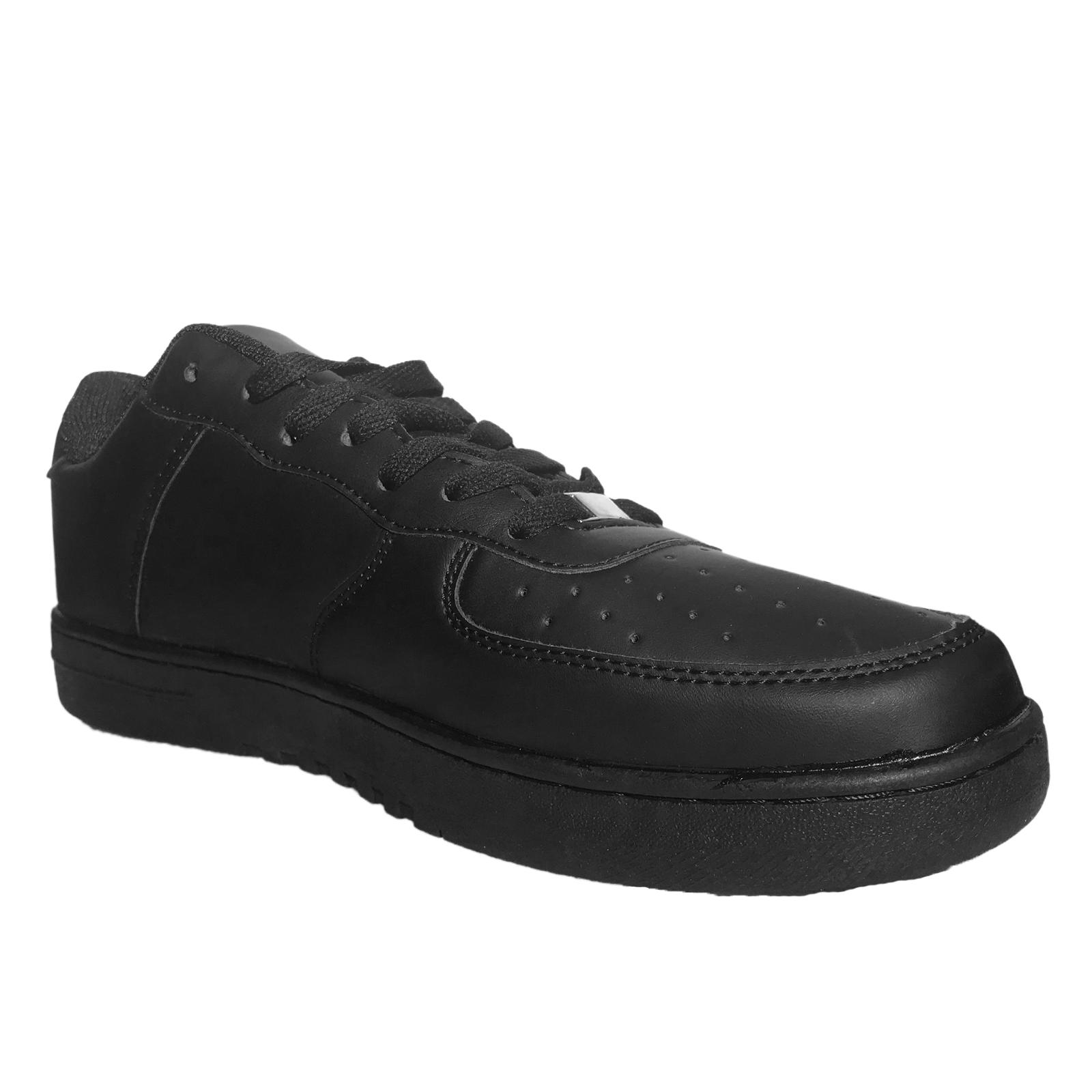 Scarpe-Ginnastica-Uomo-Pelle-PU-Nero-Running-Passeggio-Tipo-Nike miniatura 12