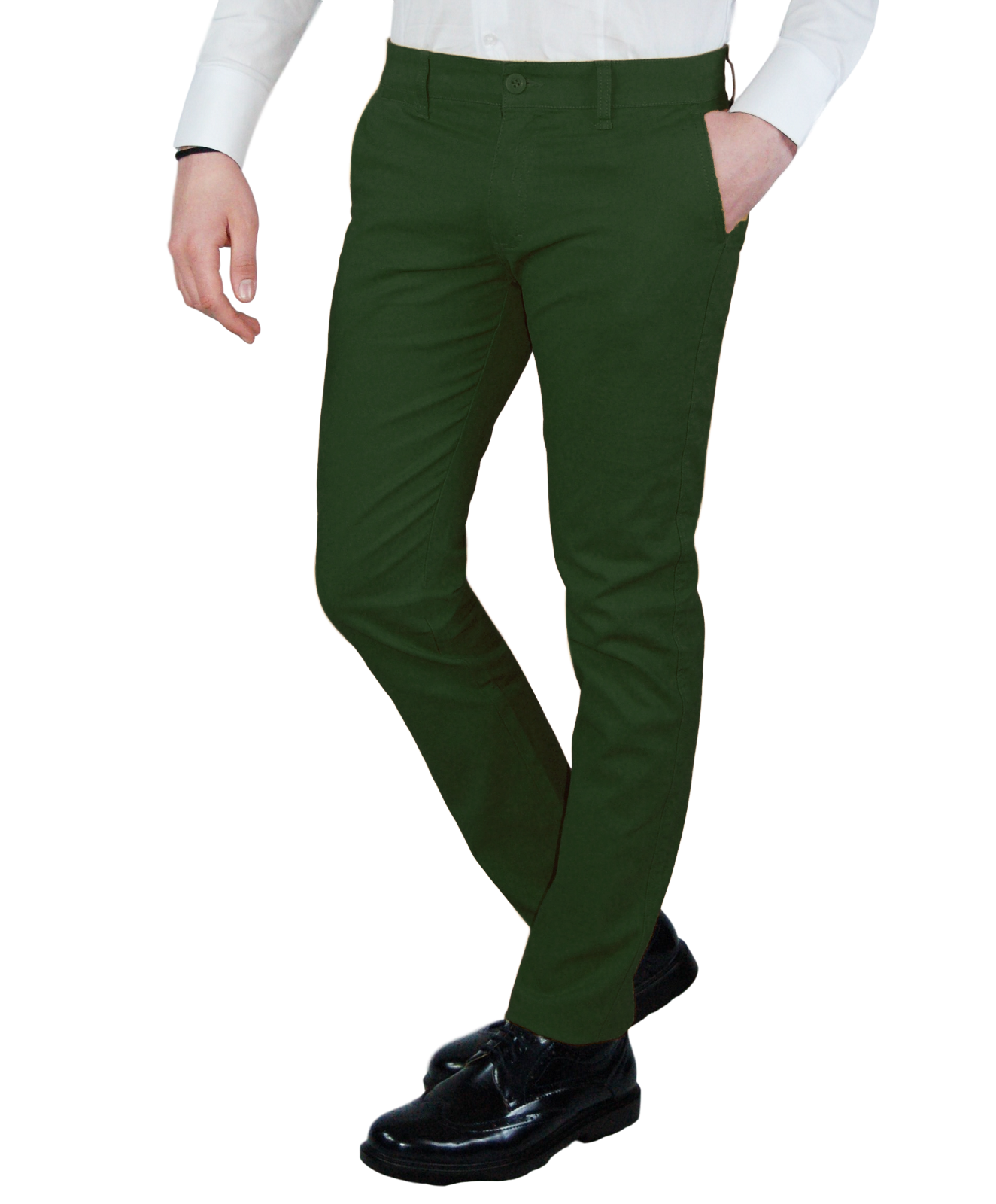 Pantalone-Uomo-Chino-Primaverile-slim-fit-Pantaloni-Eleganti-Blu-Verde-Nero miniatura 20