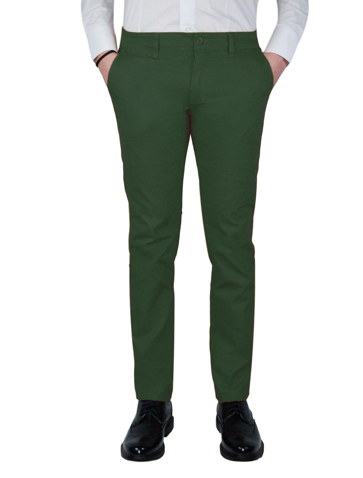 Pantalone-Uomo-Chino-Primaverile-slim-fit-Pantaloni-Eleganti-Blu-Verde-Nero miniatura 21
