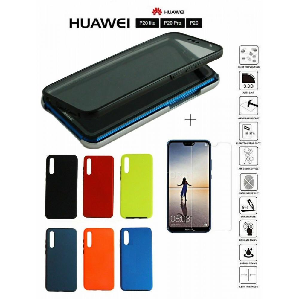 COVER Huawei P20 LITE PRO Custodia rigida originale Pellicola Vetro Temperato