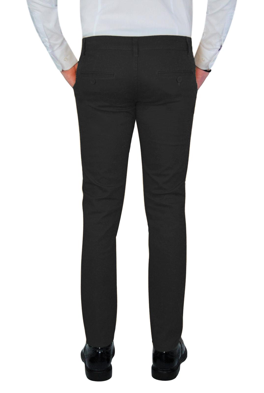 Pantalone-Uomo-Chino-Primaverile-slim-fit-Pantaloni-Eleganti-Blu-Verde-Nero miniatura 24