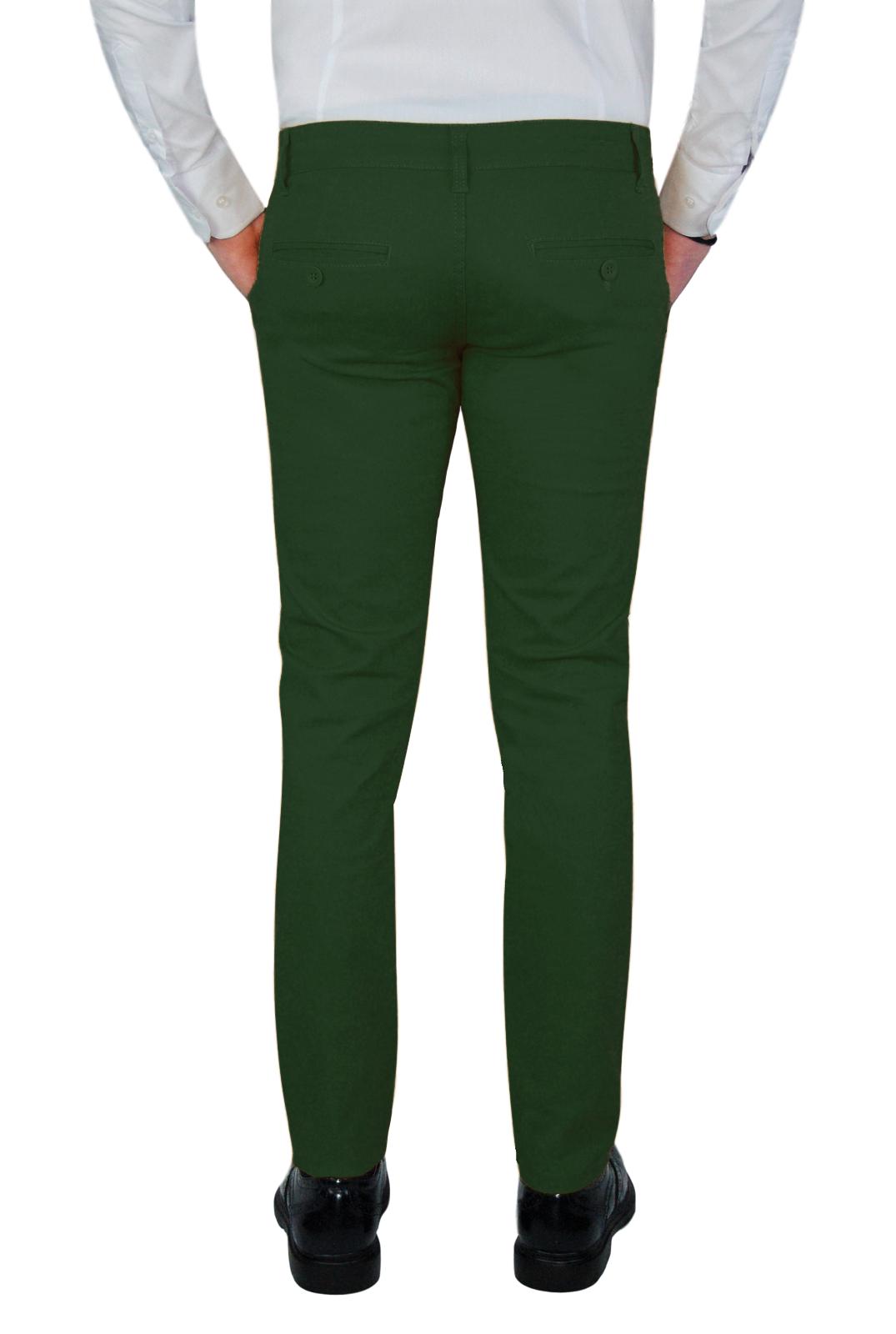 Pantalone-Uomo-Invernale-Slim-Fit-Chino-tasca-america-Cotone-Blu-Nero-Verde miniatura 21