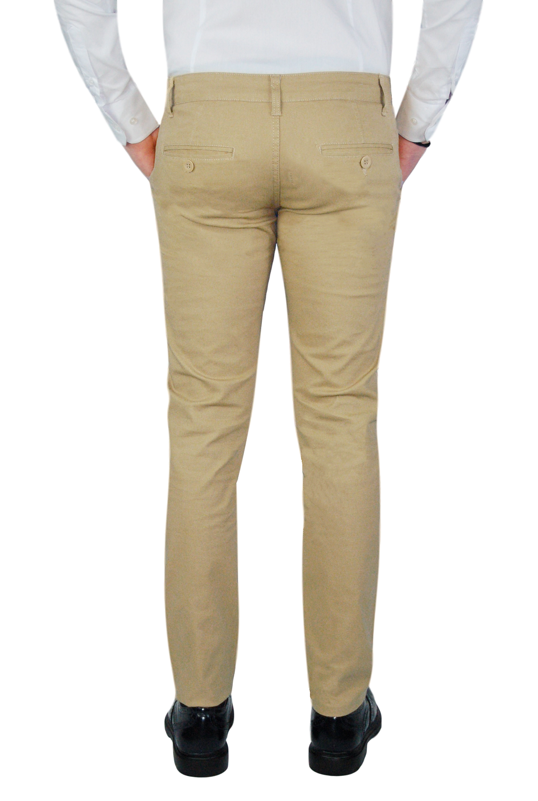 Pantalone-Uomo-Chino-Slim-fit-Primaverile-tasca-america-Bianco-Grigio-Senape-Bei miniatura 27