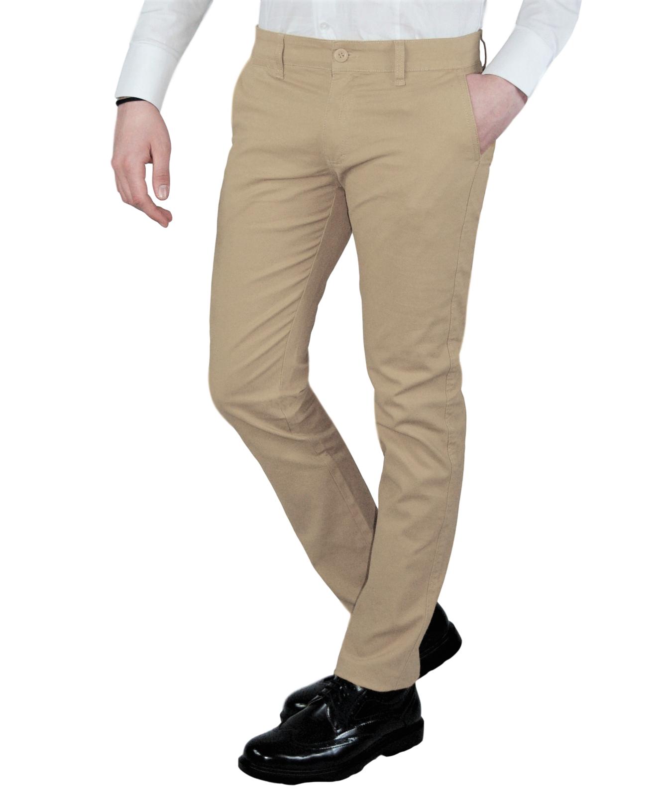 Pantalone-Uomo-Chino-Slim-fit-Primaverile-tasca-america-Bianco-Grigio-Senape-Bei miniatura 28