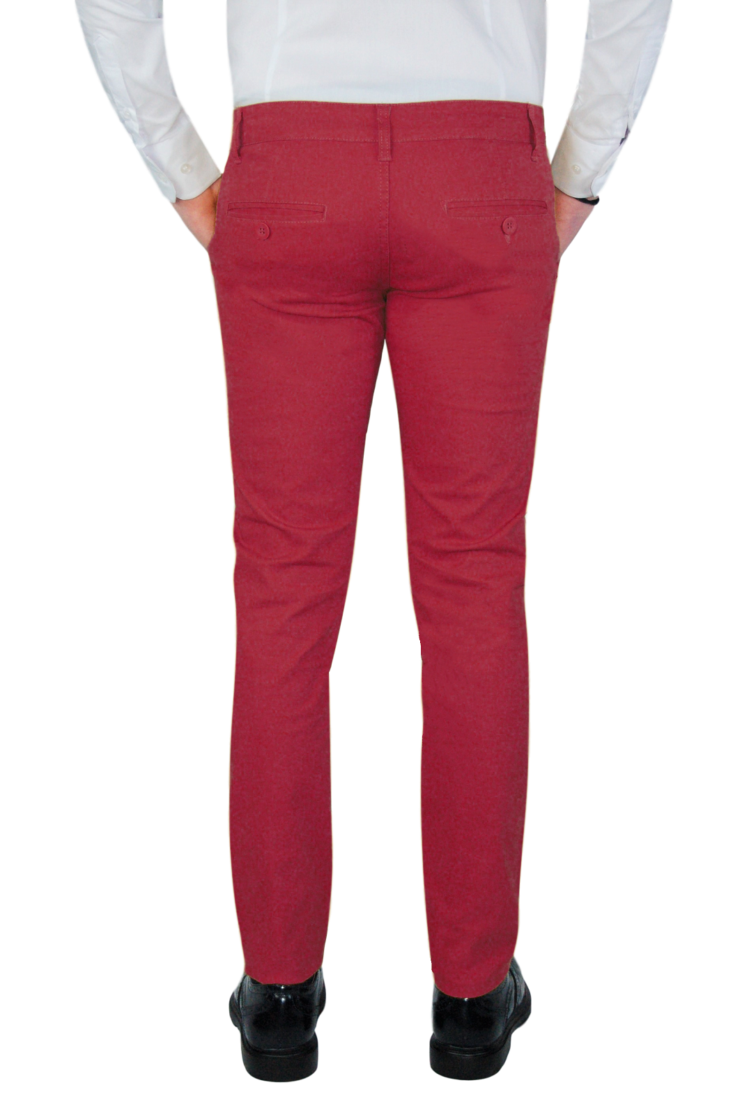 Pantalone-Uomo-Invernale-Slim-Fit-Chino-tasca-america-Cotone-Blu-Nero-Verde miniatura 25