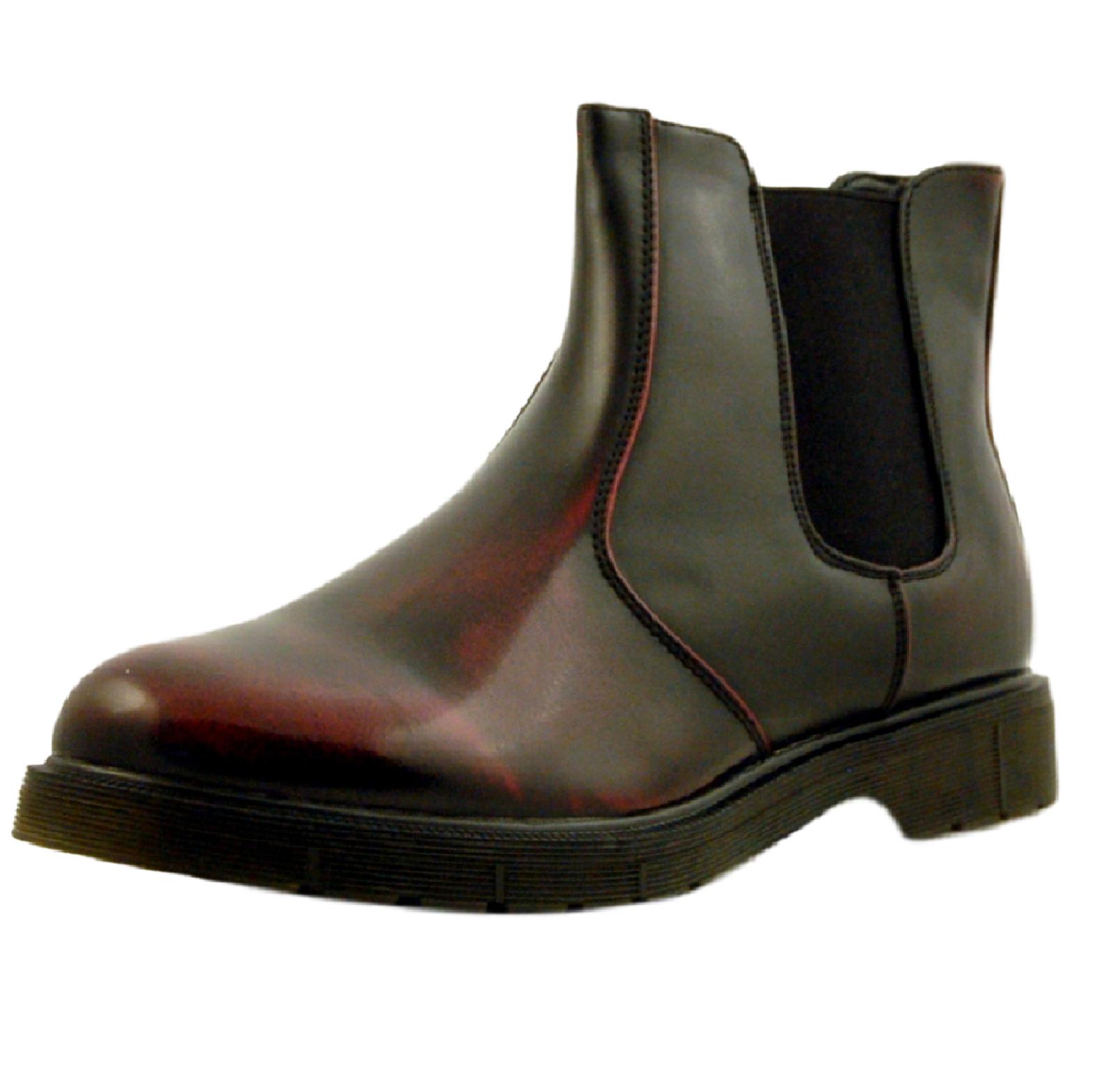 Stivaletti-Uomo-Scarpe-Eleganti-Casual-Stivali-Blu-Nero-eco-Tronchetto-eco-pelle miniatura 9