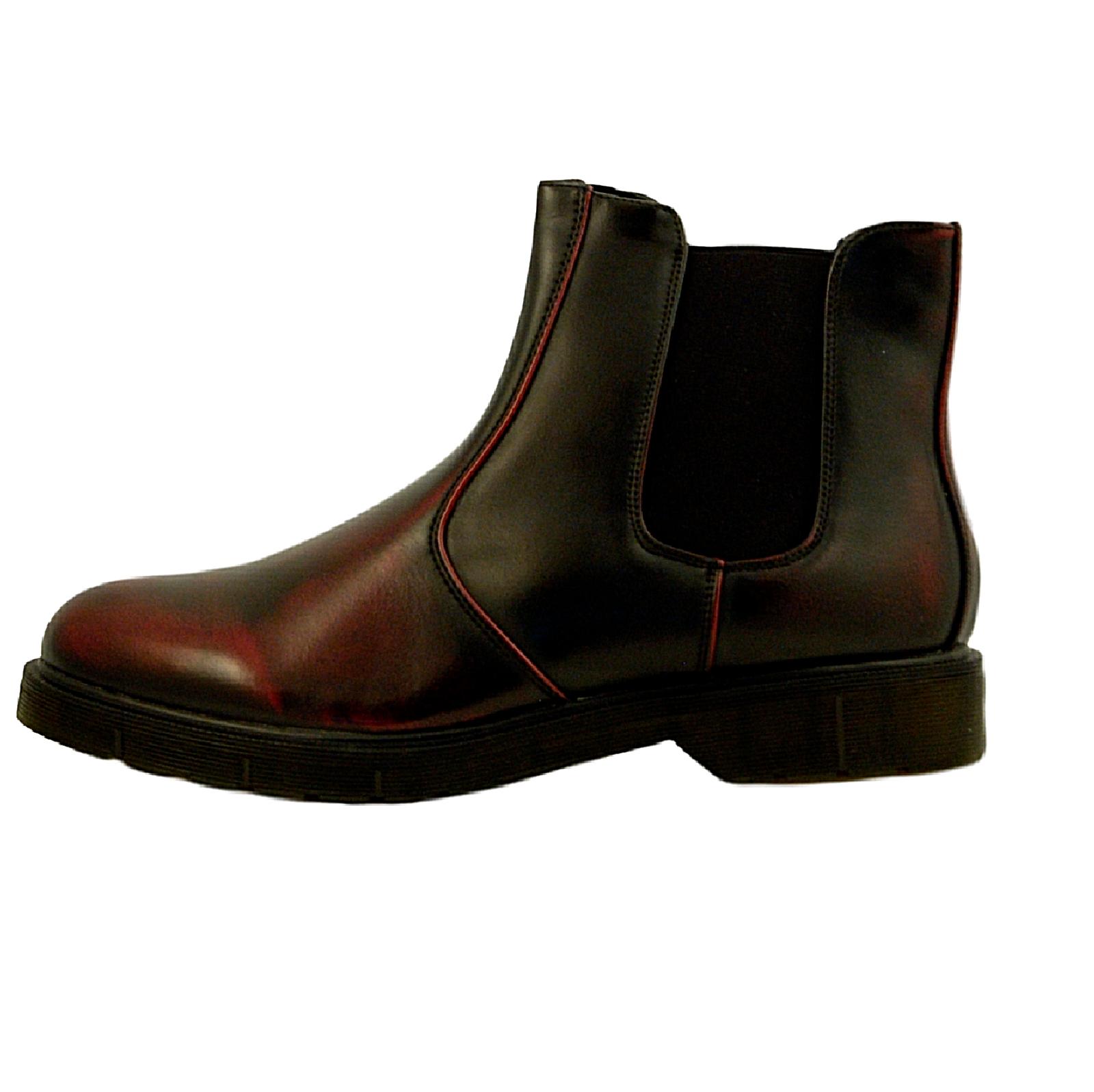 Stivaletti-Uomo-Scarpe-Eleganti-Casual-Stivali-Blu-Nero-eco-Tronchetto-eco-pelle miniatura 11