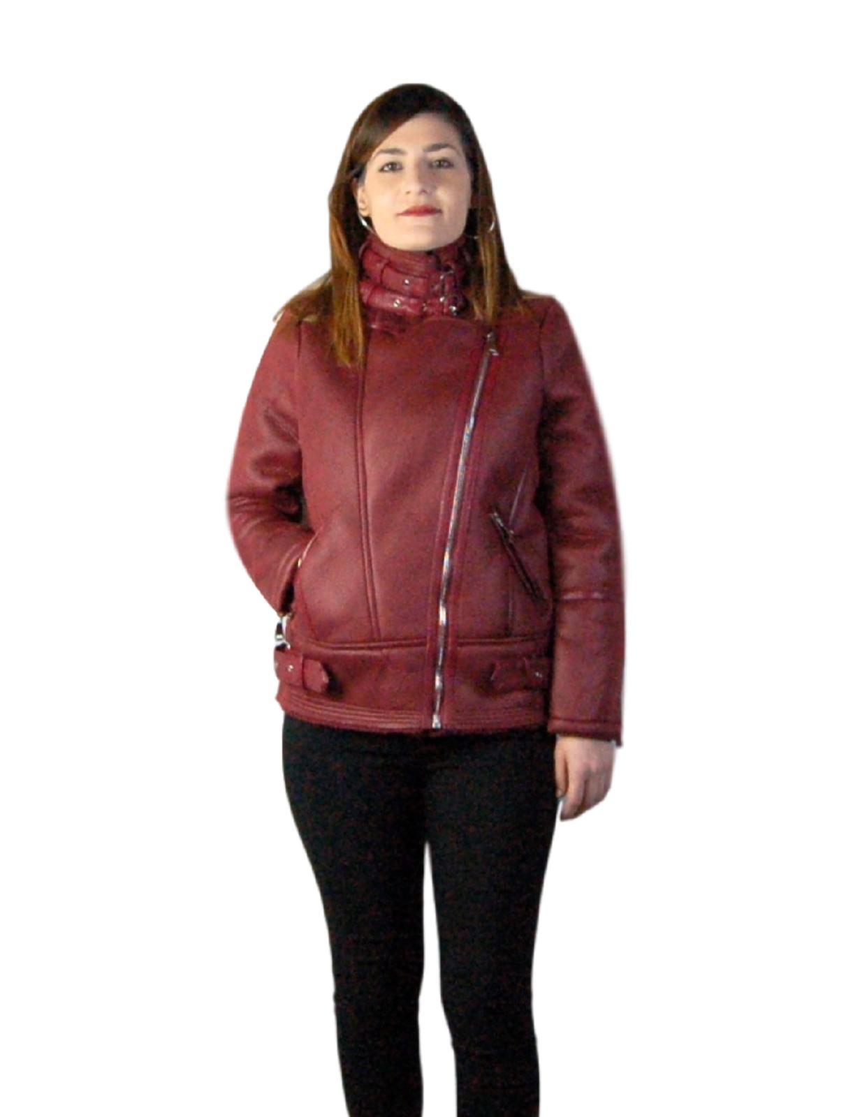 Giubbotto-Donna-Pelliccia-Giubbino-Caldo-Invernale-Imbottito-Casual-parka-Verde miniatura 13