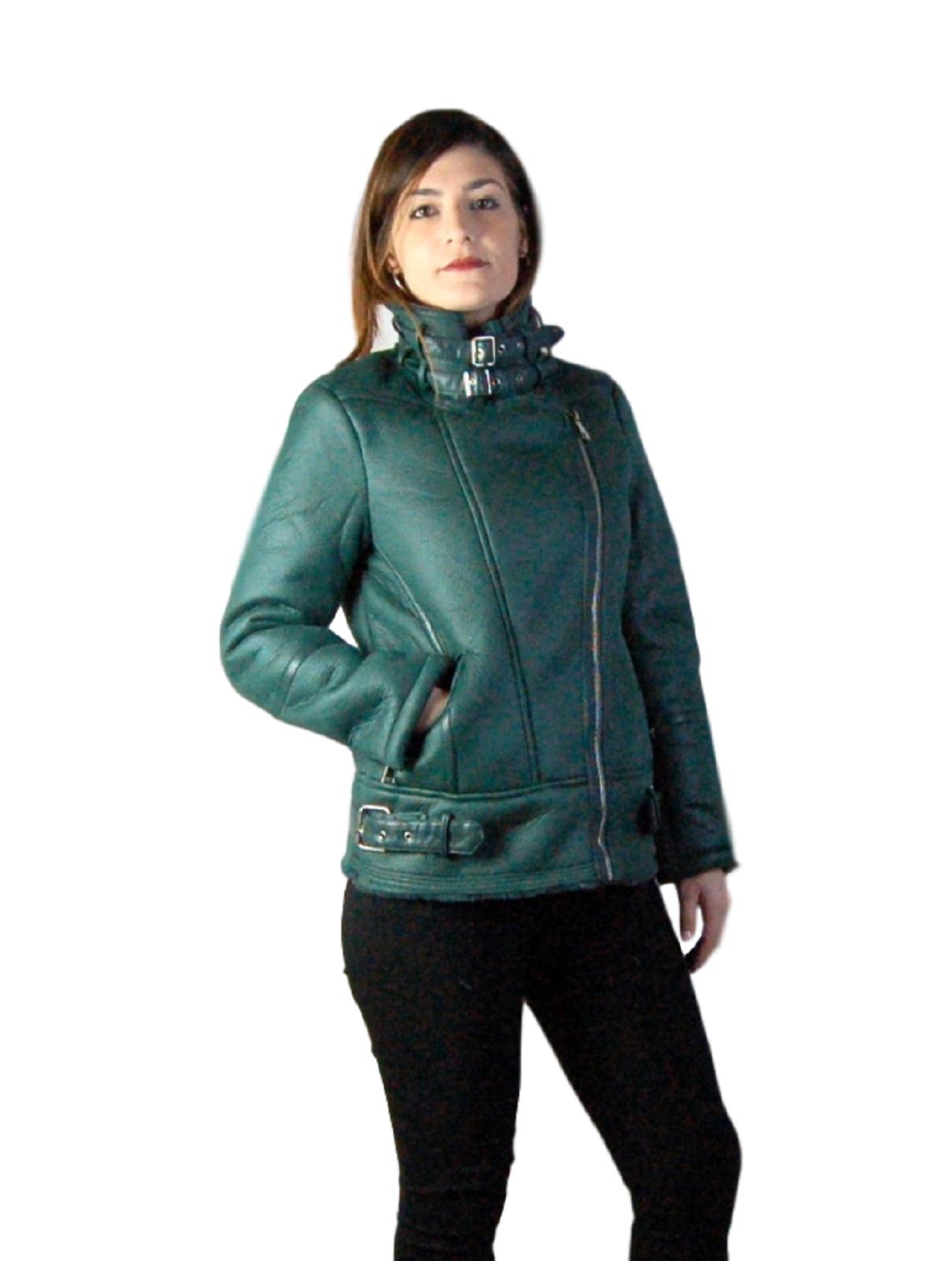 Giubbotto-Donna-Pelliccia-Giubbino-Caldo-Invernale-Imbottito-Casual-parka-Verde miniatura 15