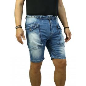 Bermuda Uomo Jeans Cargo...