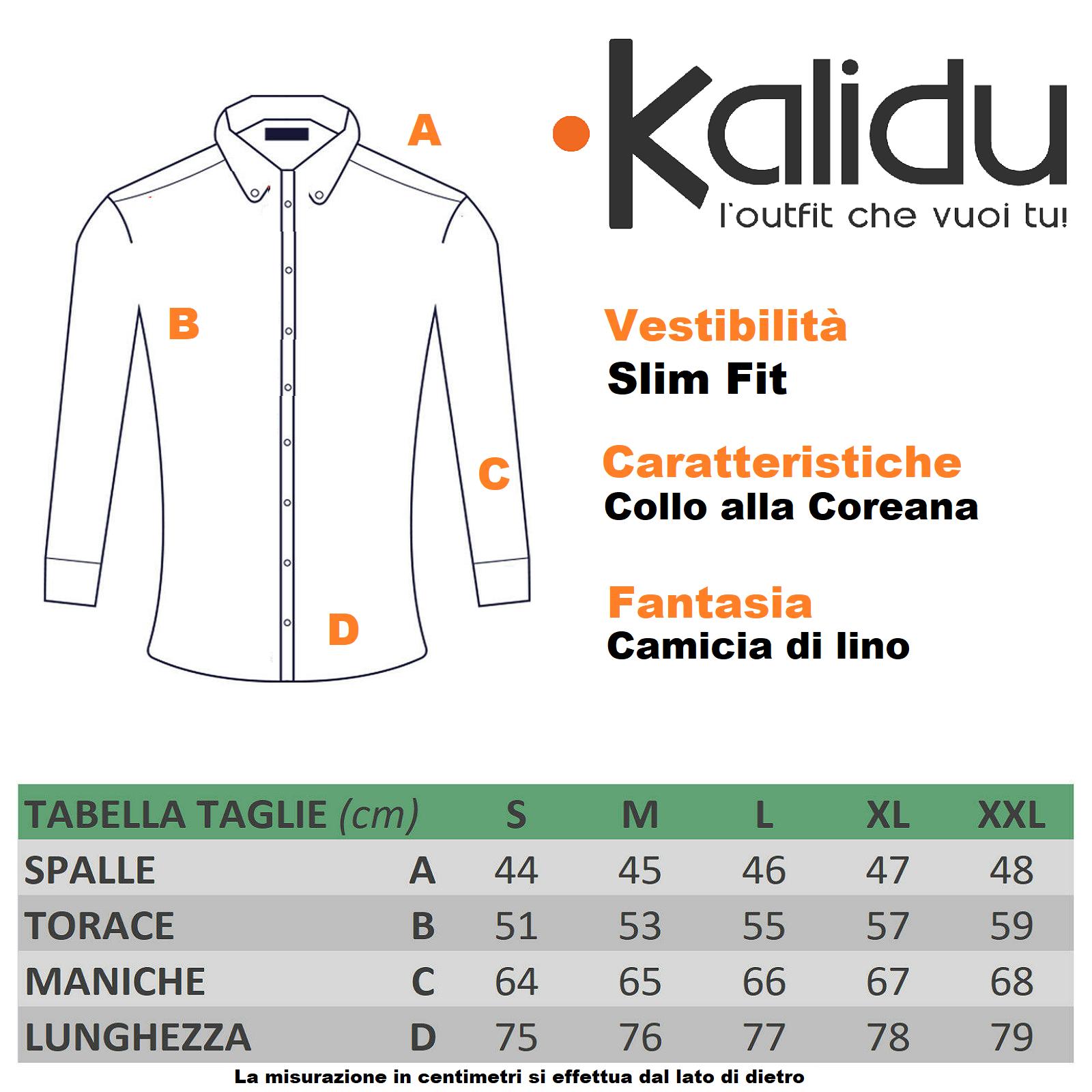 Camicia-Uomo-Lino-slim-fit-Coreana-Estiva-Bianca-Beige-Nera-Verde-CasualFresca-L miniatura 16