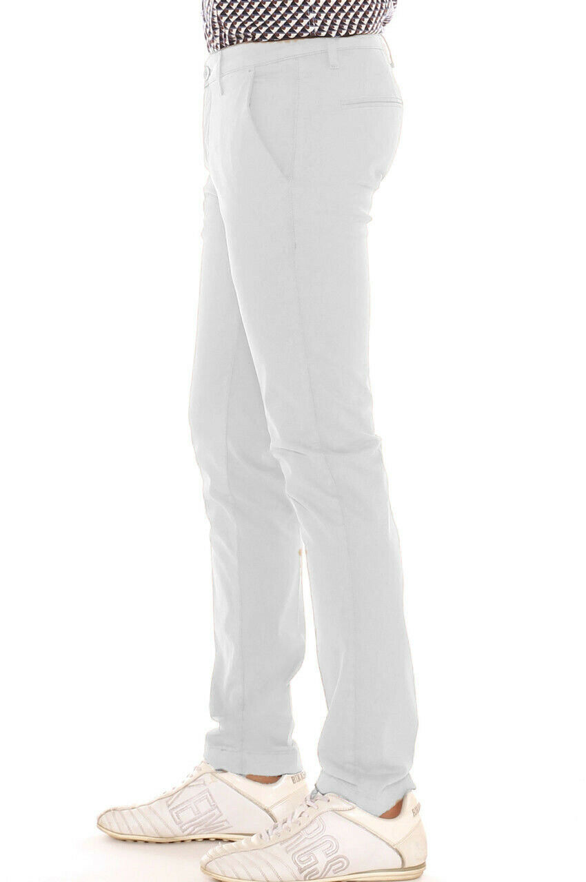 Pantalone-Uomo-Slim-fit-Chino-Elegante-Invernale-America-Cotone-Tasca-america miniatura 14
