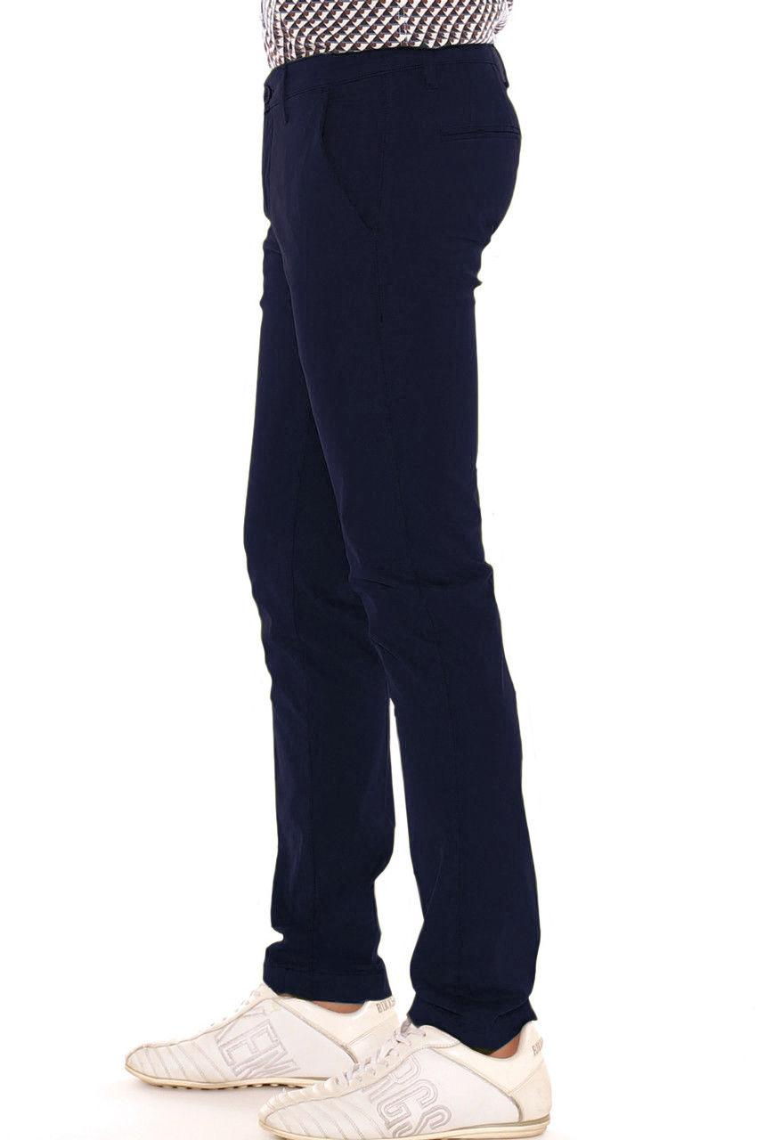 Pantalone-Uomo-Slim-fit-Chino-Elegante-Invernale-America-Cotone-Tasca-america miniatura 18