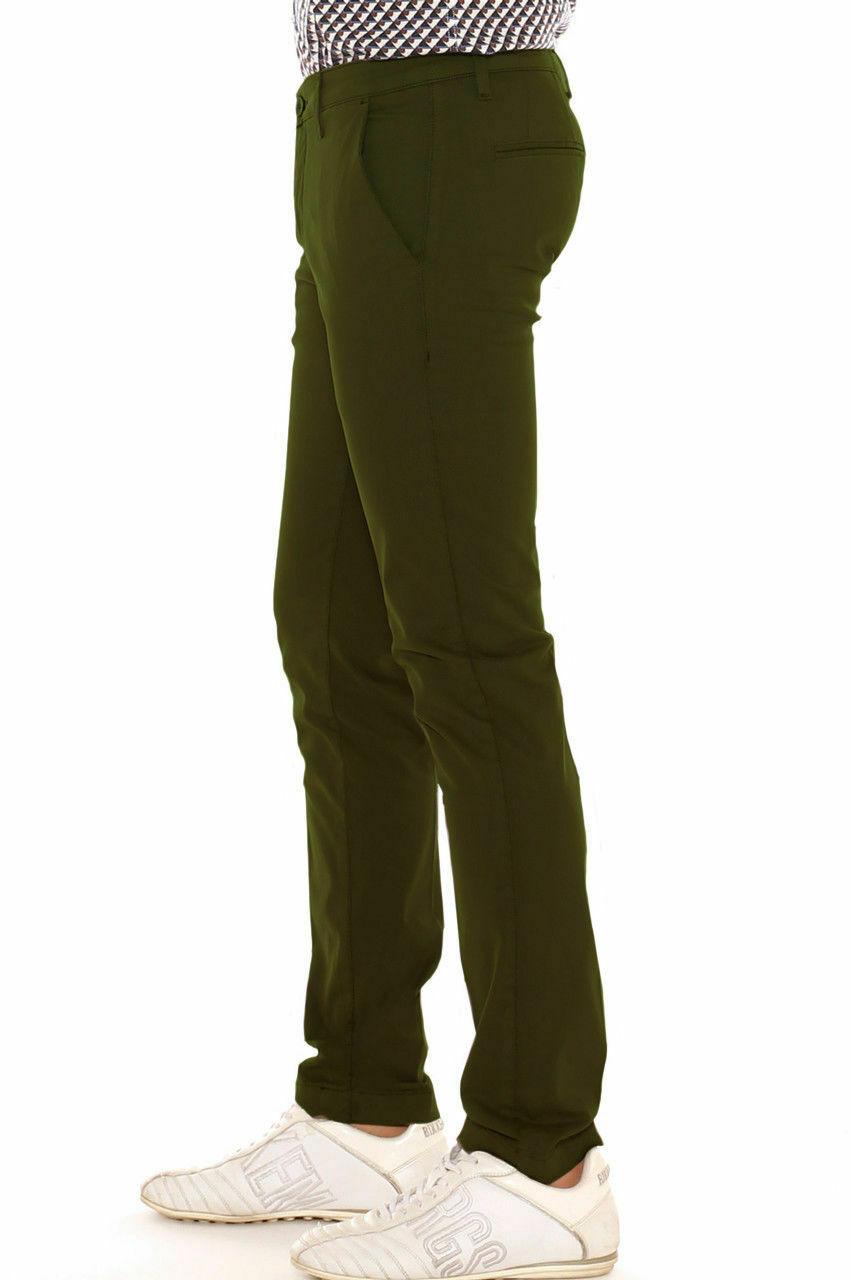 Pantalone-Uomo-Slim-fit-Chino-Elegante-Invernale-America-Cotone-Tasca-america miniatura 24