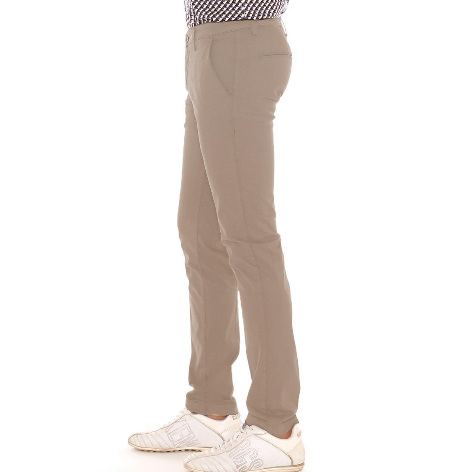 Pantalone-Uomo-Slim-fit-Chino-Elegante-Invernale-America-Cotone-Tasca-america miniatura 26