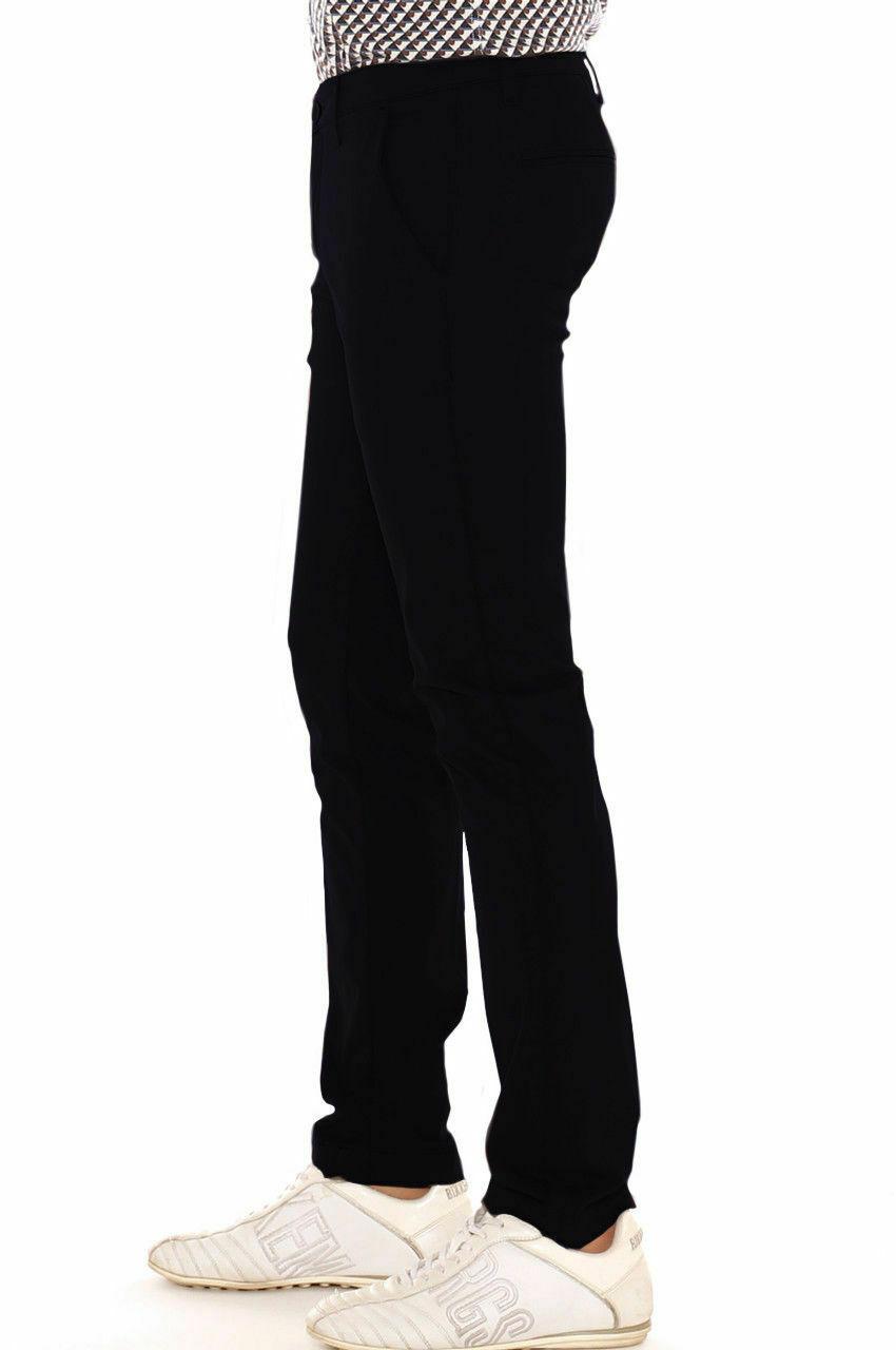 Pantalone-Uomo-Slim-fit-Chino-Elegante-Invernale-America-Cotone-Tasca-america miniatura 28