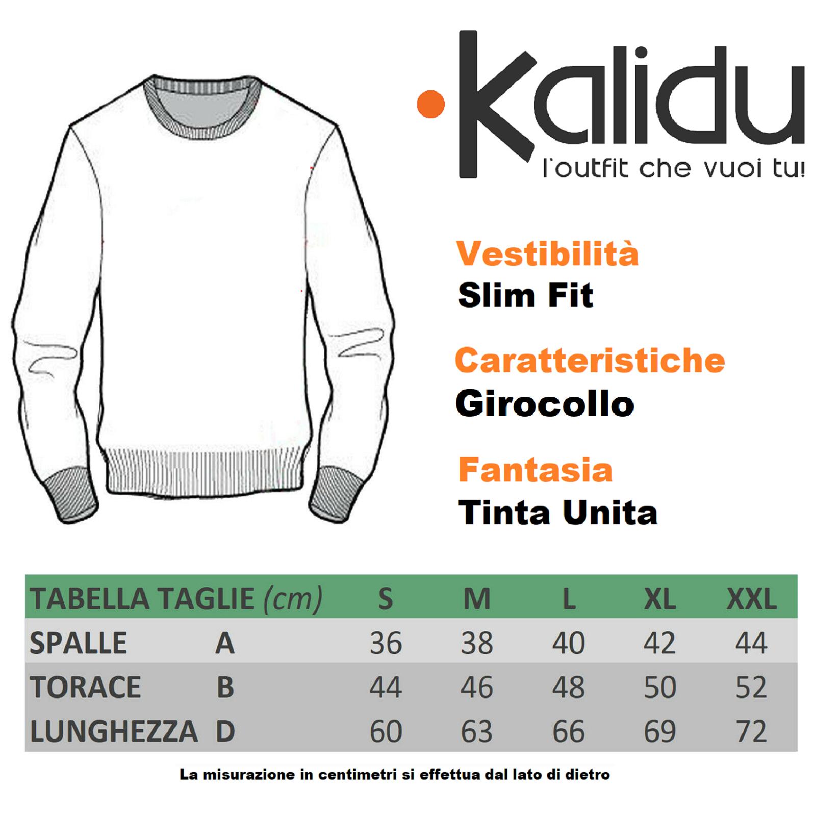 Maglione-Uomo-Scollo-a-V-Maglioncino-Slim-Fit-Maglia-Blu-Nero-Verde-Grigio miniatura 12