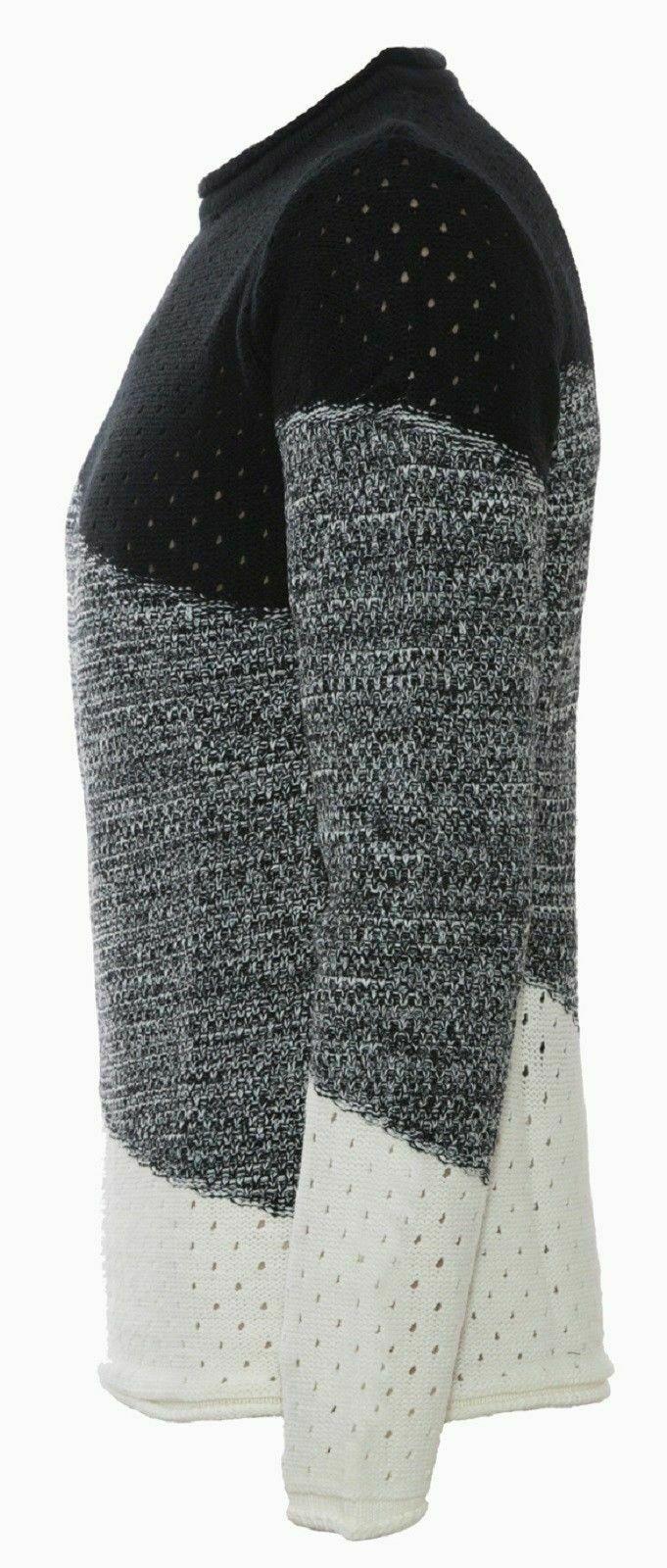 Maglione-uomo-Girocollo-Maglioncino-Invernale-Maglia-slim-fit-Pullover-Casual miniatura 12