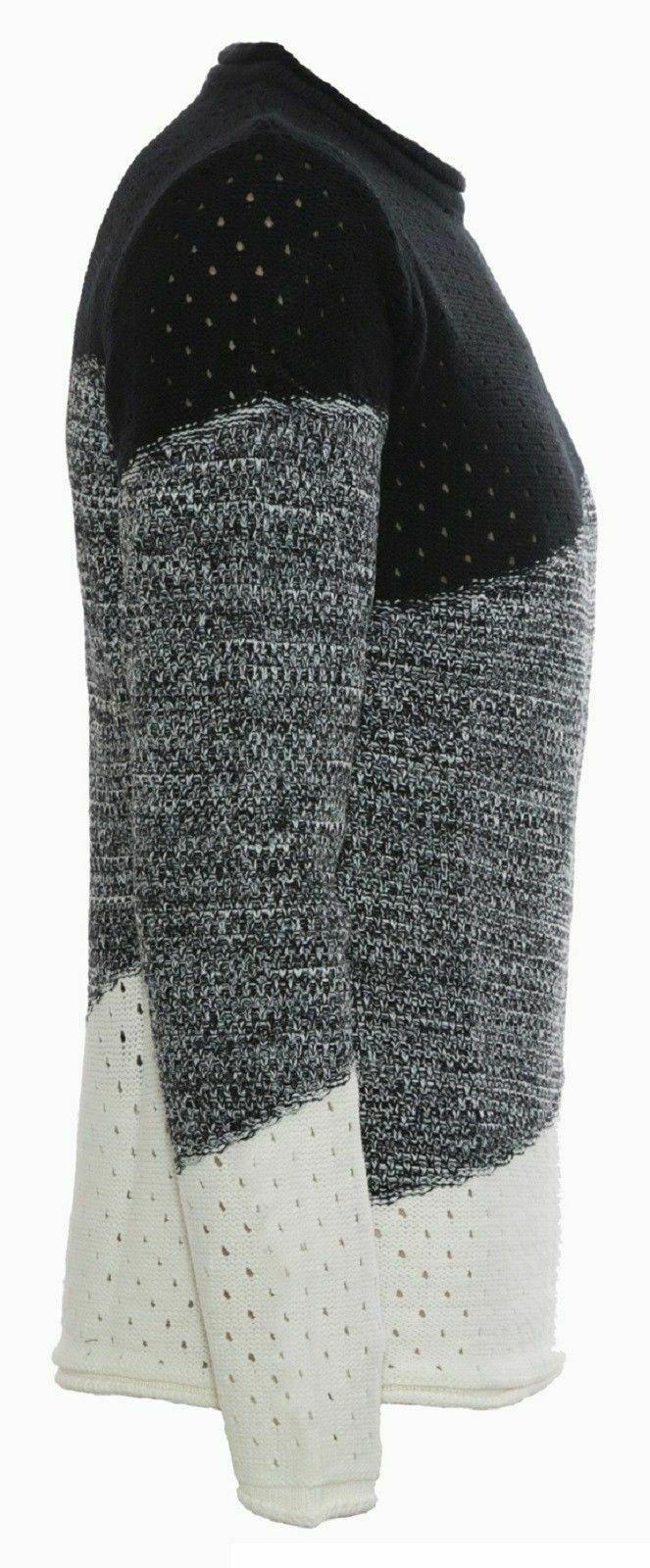 Maglione-uomo-Girocollo-Maglioncino-Invernale-Maglia-slim-fit-Pullover-Casual miniatura 13