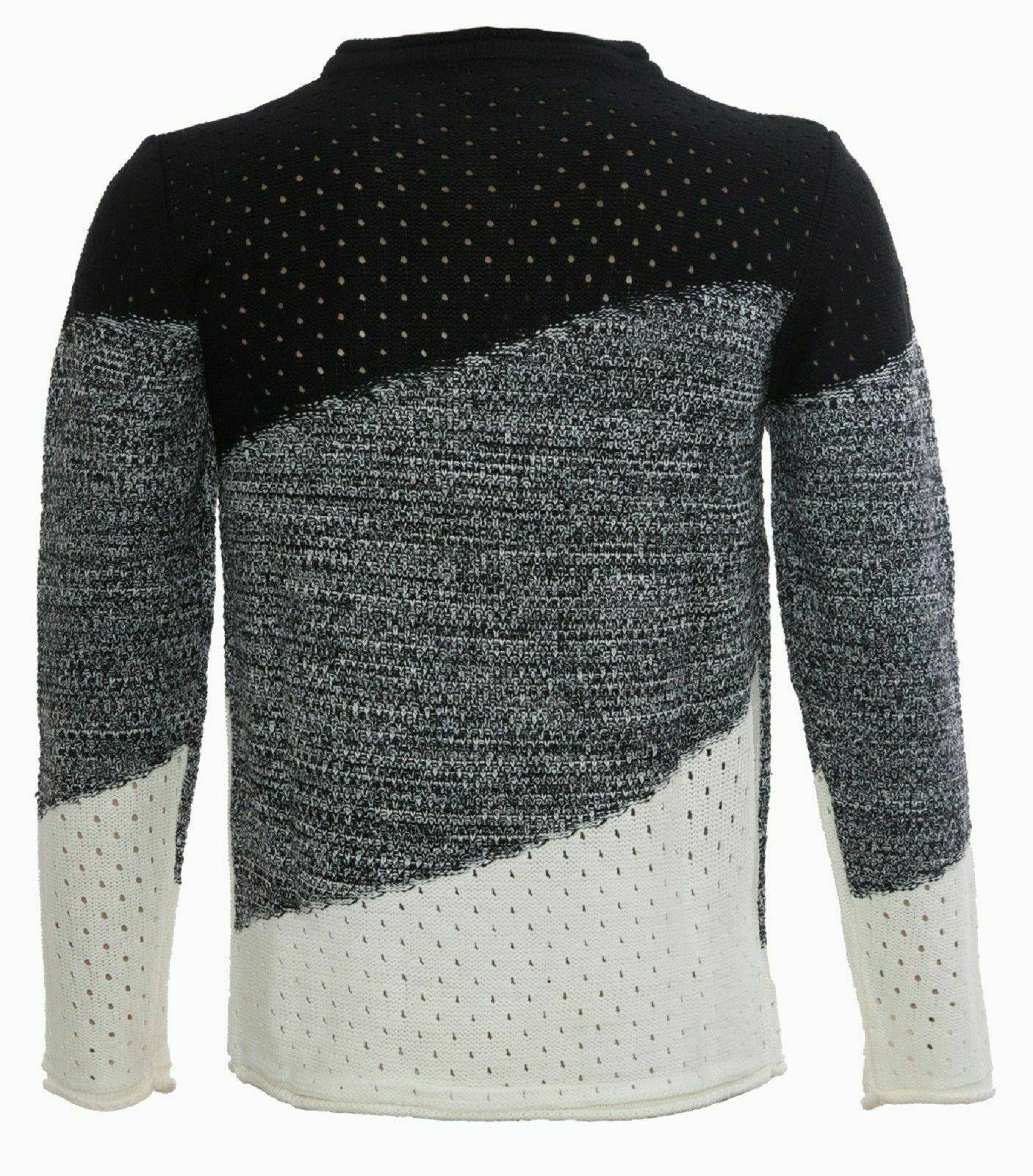 Maglione-uomo-Girocollo-Maglioncino-Invernale-Maglia-slim-fit-Pullover-Casual miniatura 14