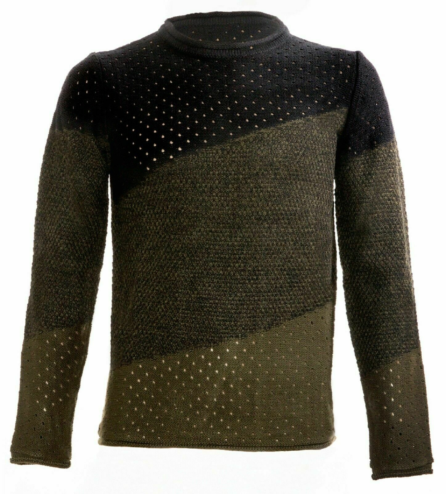 Maglione-uomo-Girocollo-Maglioncino-Invernale-Maglia-slim-fit-Pullover-Casual miniatura 15