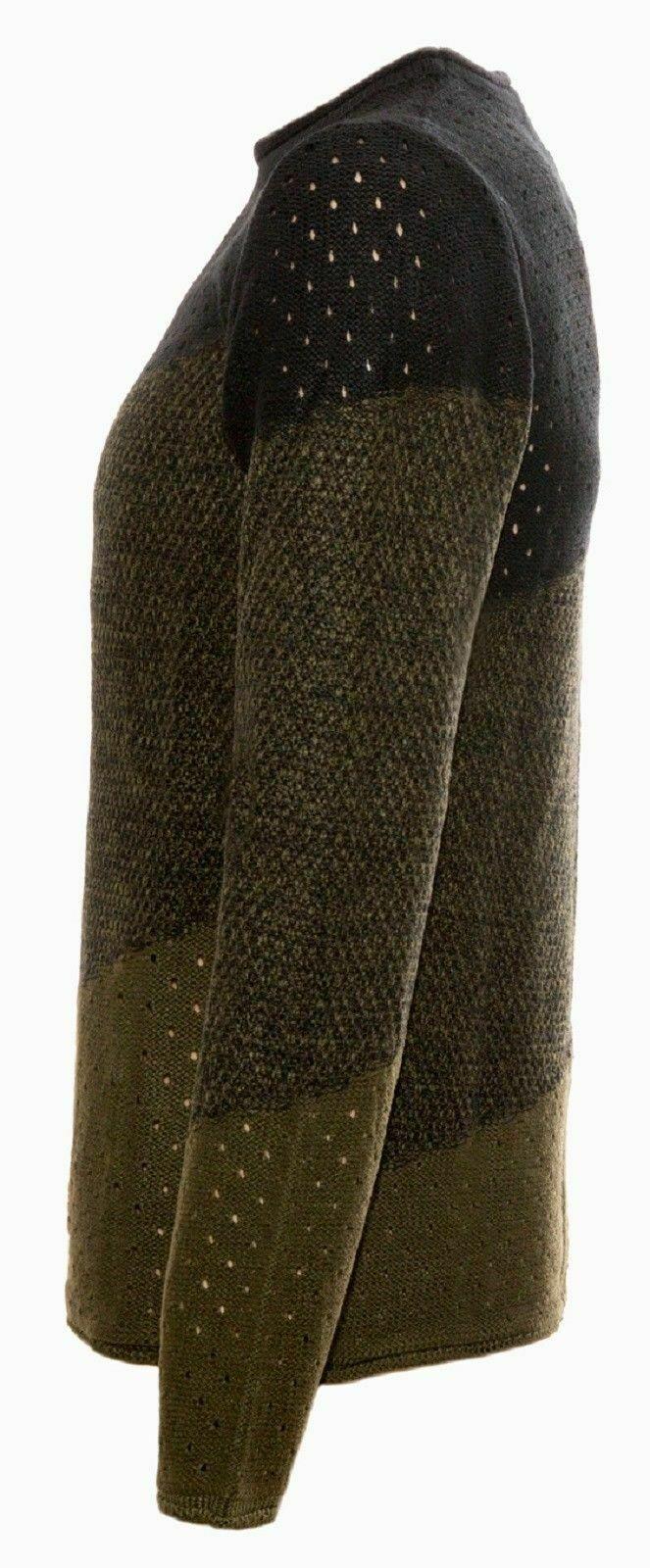 Maglione-uomo-Girocollo-Maglioncino-Invernale-Maglia-slim-fit-Pullover-Casual miniatura 16