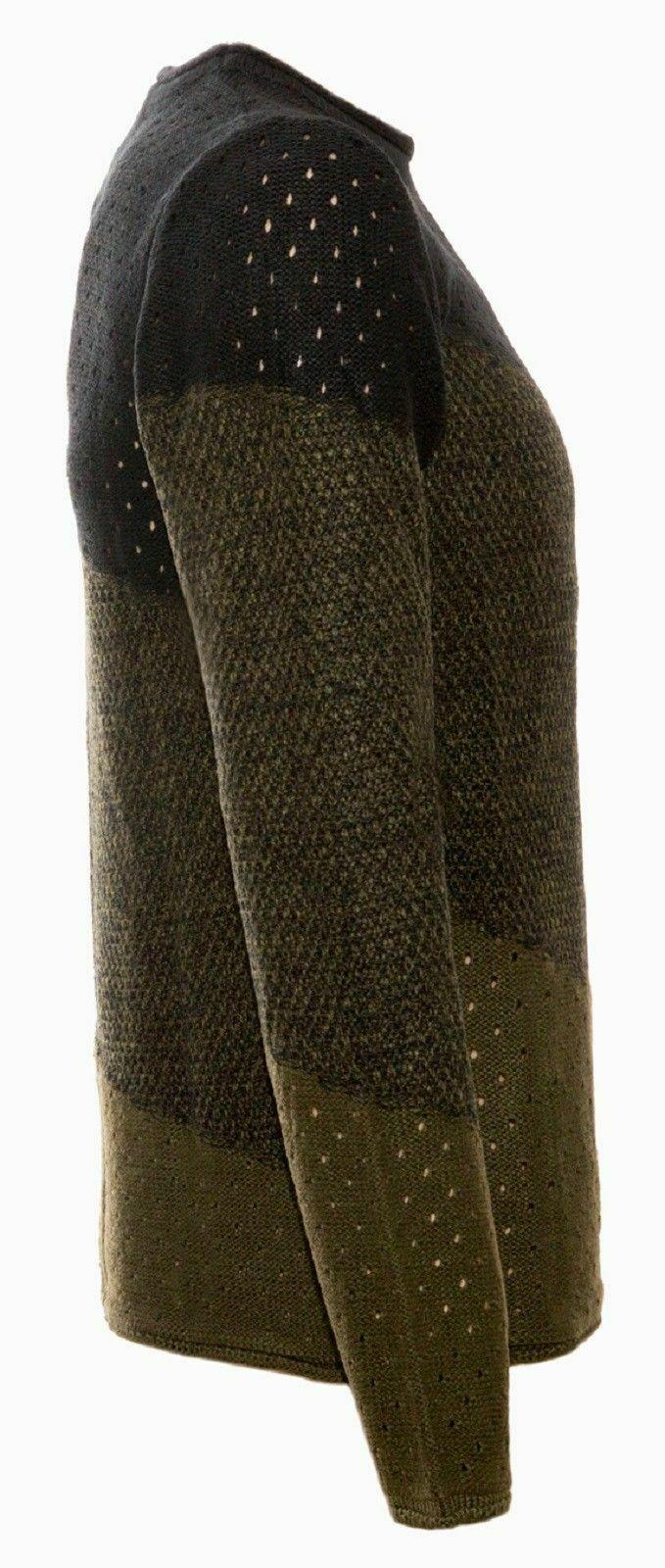 Maglione-uomo-Girocollo-Maglioncino-Invernale-Maglia-slim-fit-Pullover-Casual miniatura 17