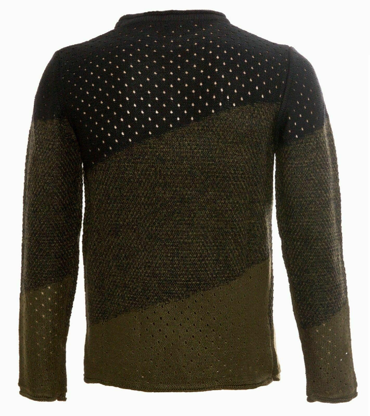 Maglione-uomo-Girocollo-Maglioncino-Invernale-Maglia-slim-fit-Pullover-Casual miniatura 18