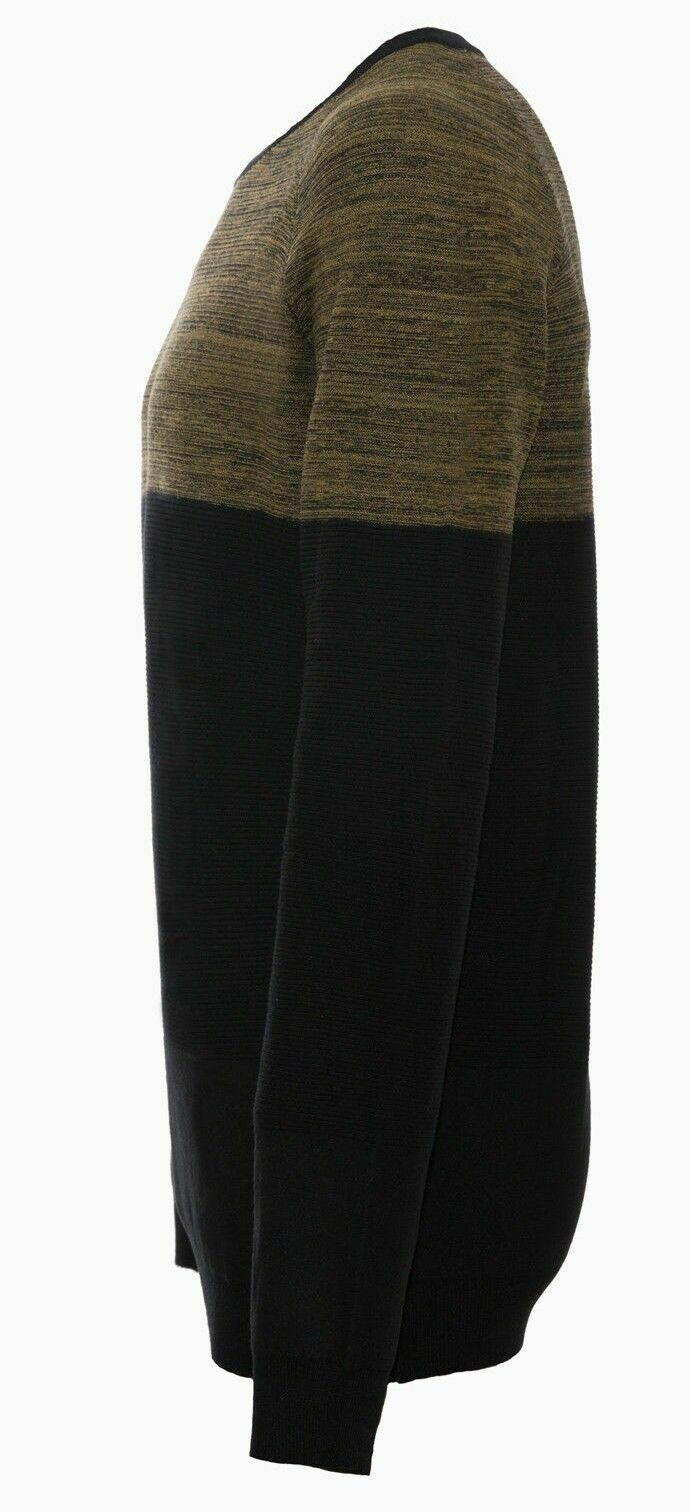 Maglione-uomo-Slim-Fit-Maglioncino-Girocollo-Cardigan-Casual-Grigio-Nero miniatura 21