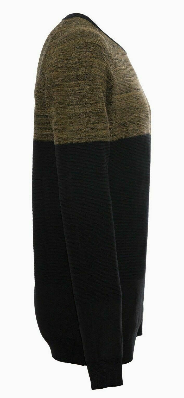 Maglione-uomo-Slim-Fit-Maglioncino-Girocollo-Cardigan-Casual-Grigio-Nero miniatura 22