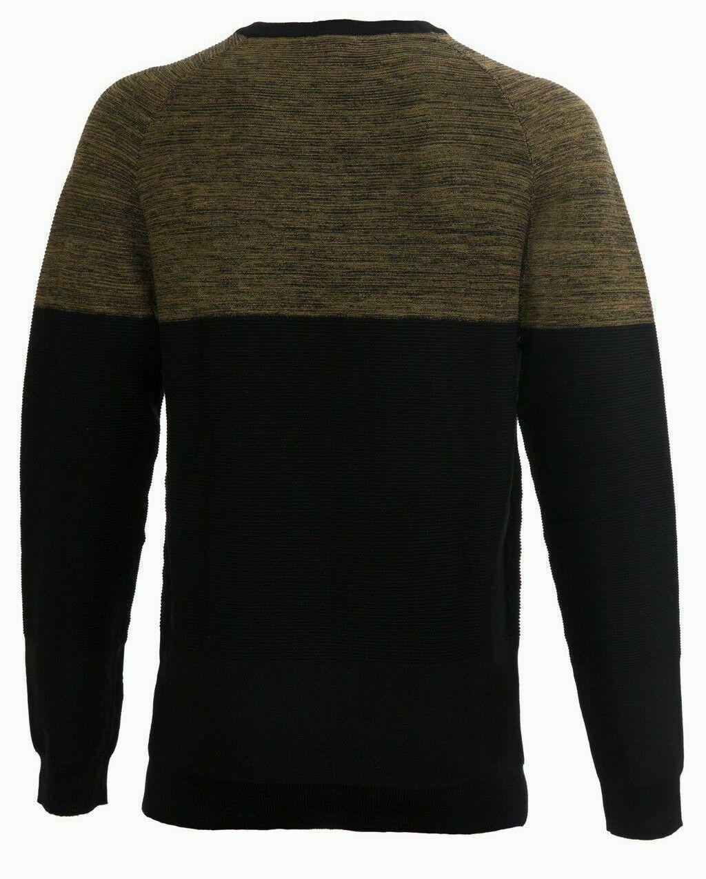 Maglione-uomo-Slim-Fit-Maglioncino-Girocollo-Cardigan-Casual-Grigio-Nero miniatura 23