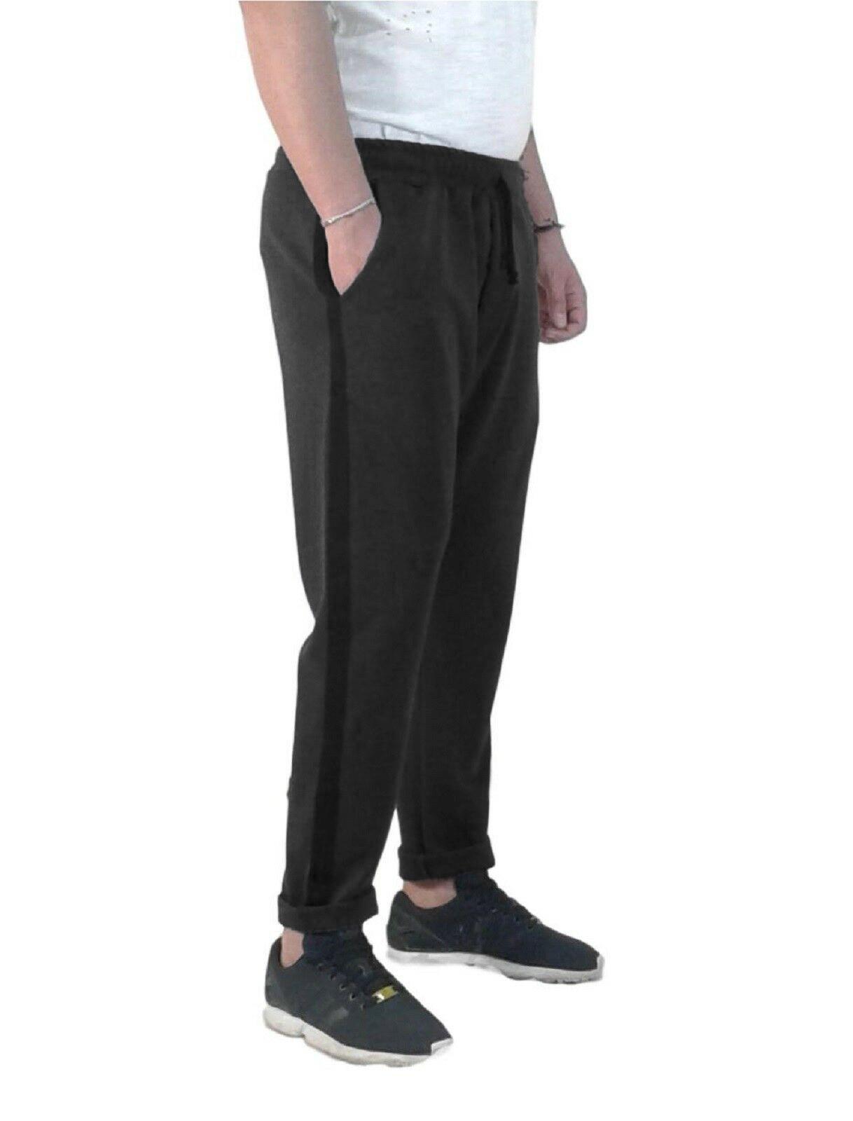 Pantalone-Tuta-Uomo-Sportivo-Fitness-Basic-Casual-Elastico-in-Vita-Slim-Fit miniatura 7