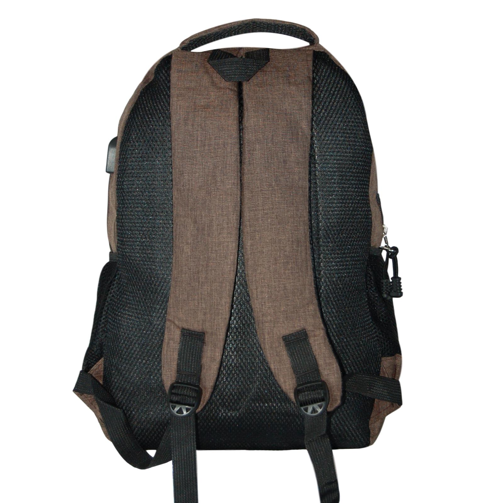 Zaino-Uomo-Donna-Porta-USB-Multitasche-Viaggio-Rosso-Blu-Nero-Grigio miniatura 24