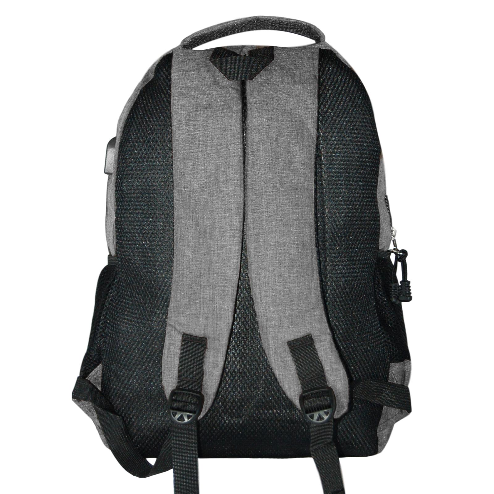 Zaino-Uomo-Donna-Porta-USB-Multitasche-Viaggio-Rosso-Blu-Nero-Grigio miniatura 28