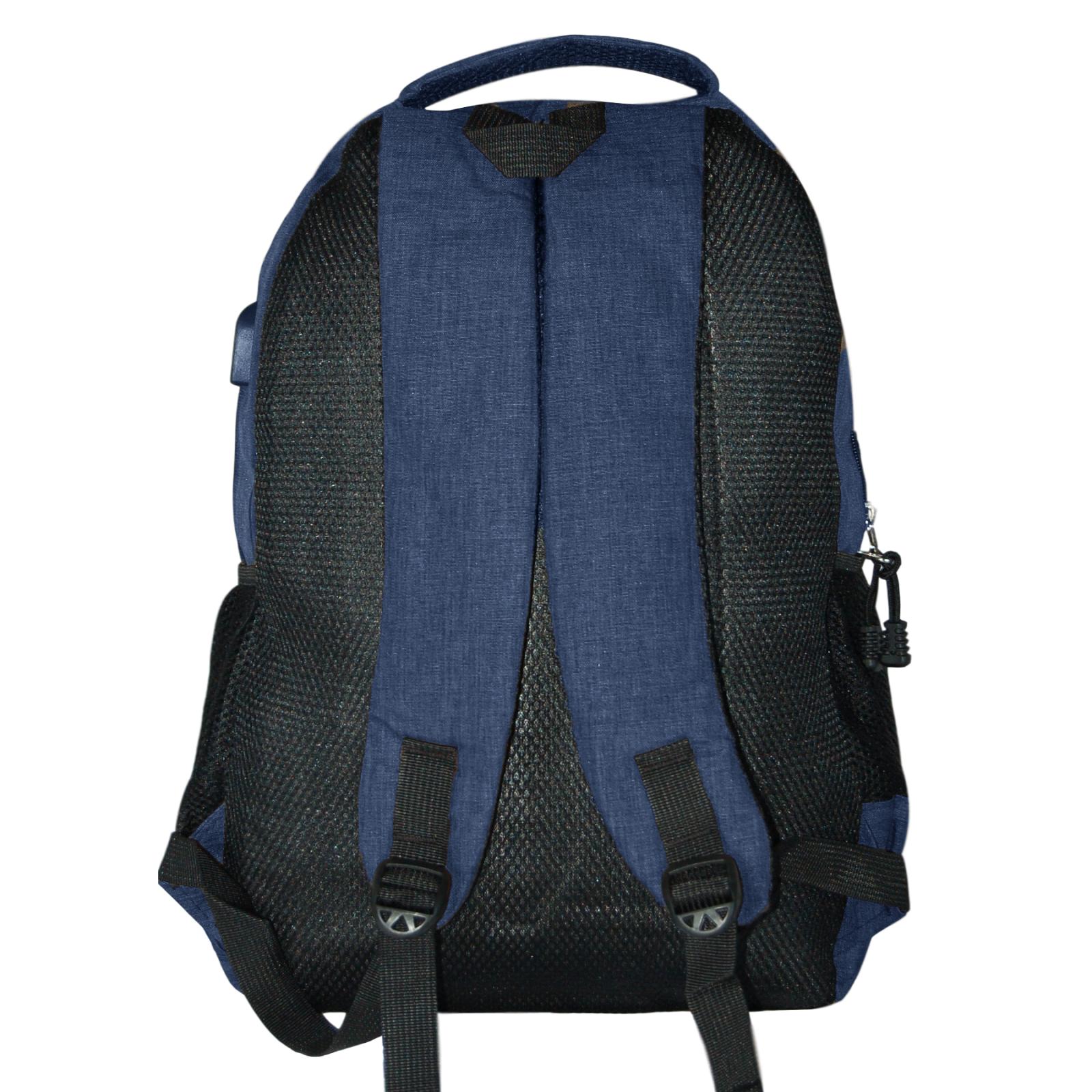 Zaino-Uomo-Donna-Porta-USB-Multitasche-Viaggio-Rosso-Blu-Nero-Grigio miniatura 20