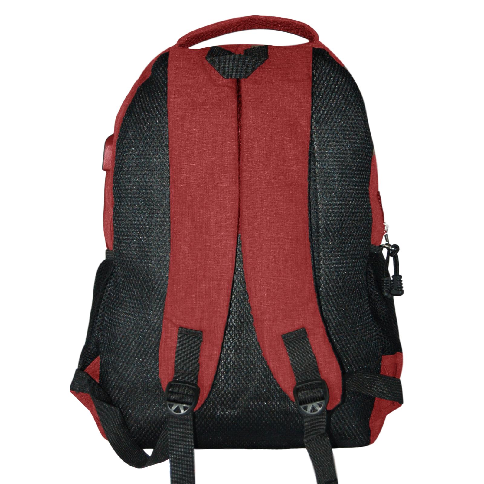 Zaino-Uomo-Donna-Porta-USB-Multitasche-Viaggio-Rosso-Blu-Nero-Grigio miniatura 32
