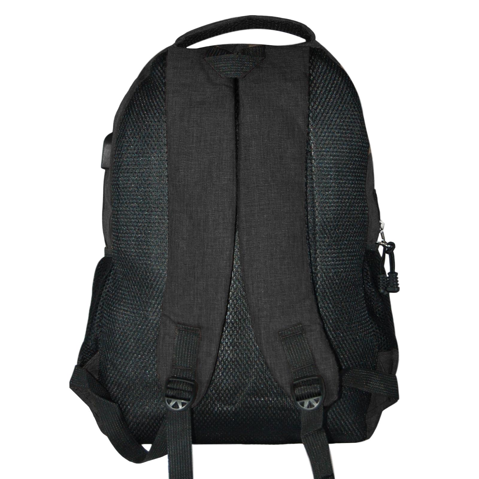 Zaino-Uomo-Donna-Porta-USB-Multitasche-Viaggio-Rosso-Blu-Nero-Grigio miniatura 16