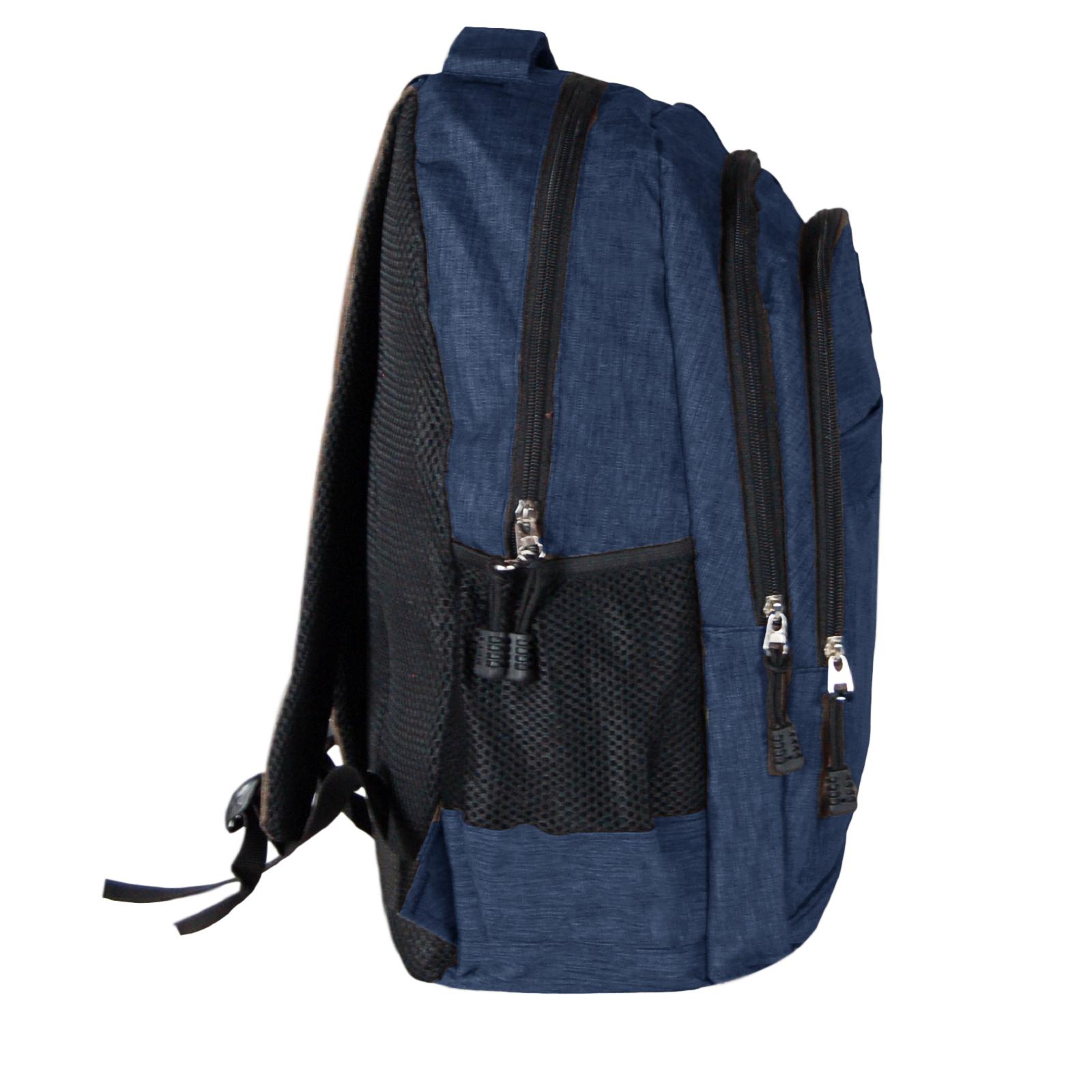 Zaino-Uomo-Donna-Porta-USB-Multitasche-Viaggio-Rosso-Blu-Nero-Grigio miniatura 19