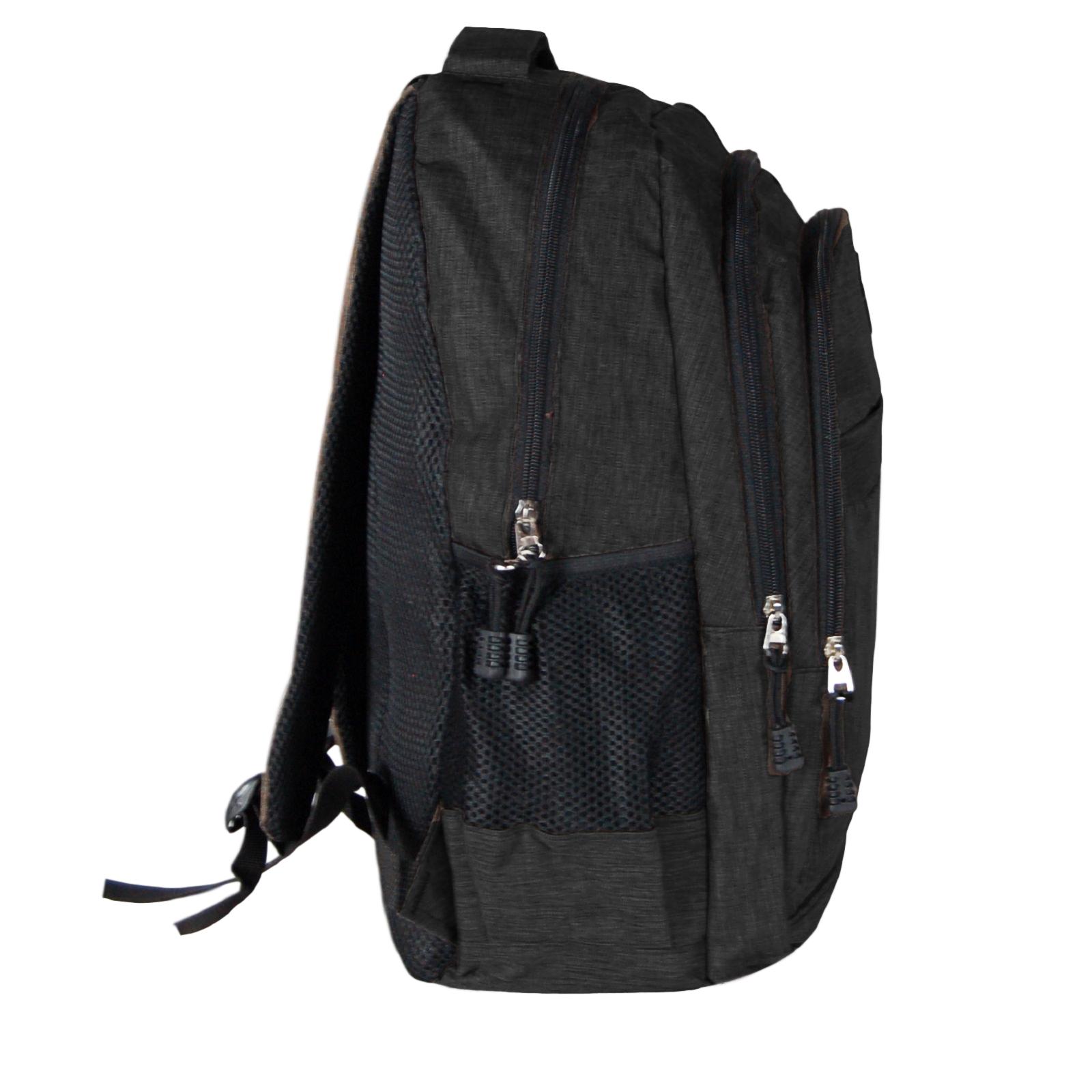 Zaino-Uomo-Donna-Porta-USB-Multitasche-Viaggio-Rosso-Blu-Nero-Grigio miniatura 15