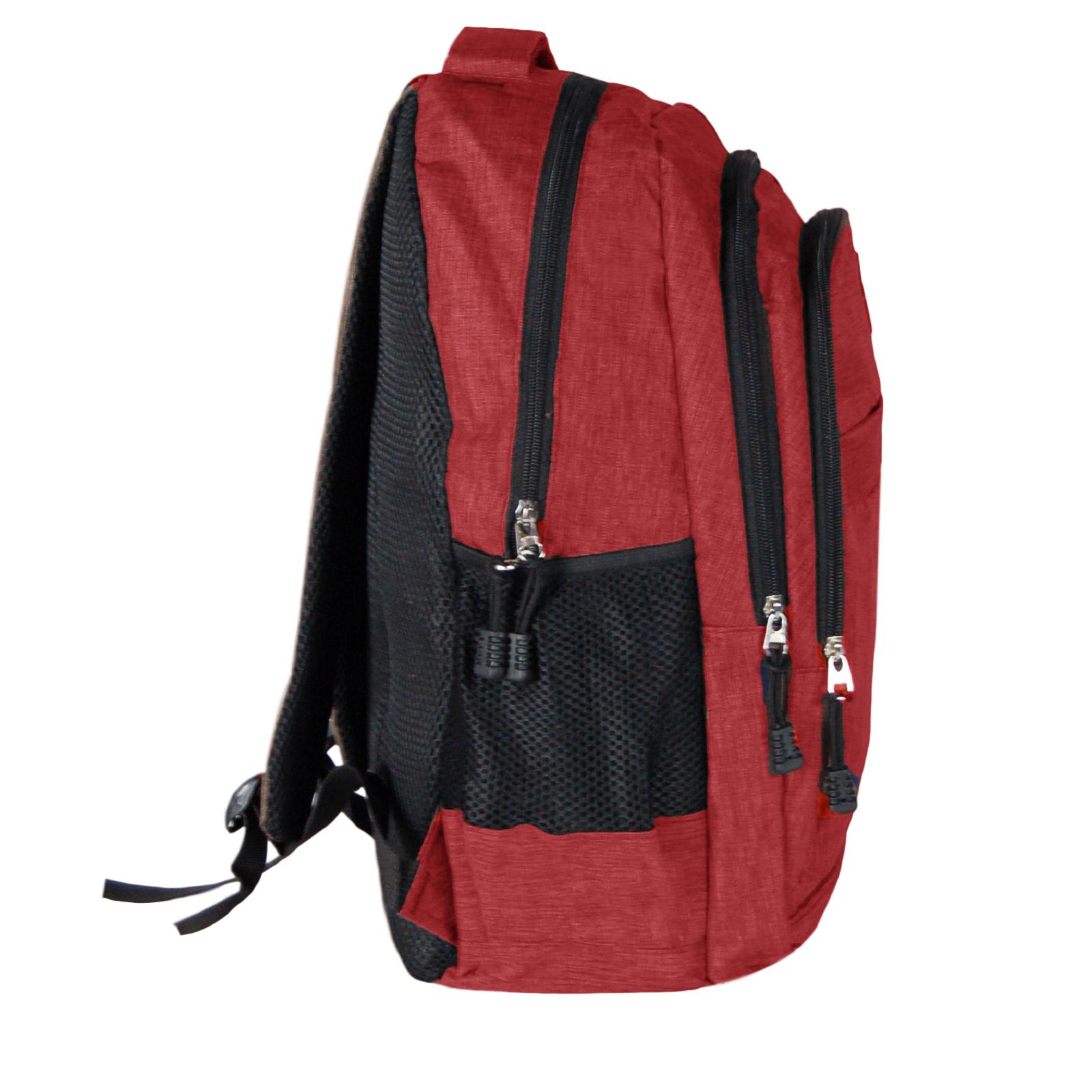 Zaino-Uomo-Donna-Porta-USB-Multitasche-Viaggio-Rosso-Blu-Nero-Grigio miniatura 31