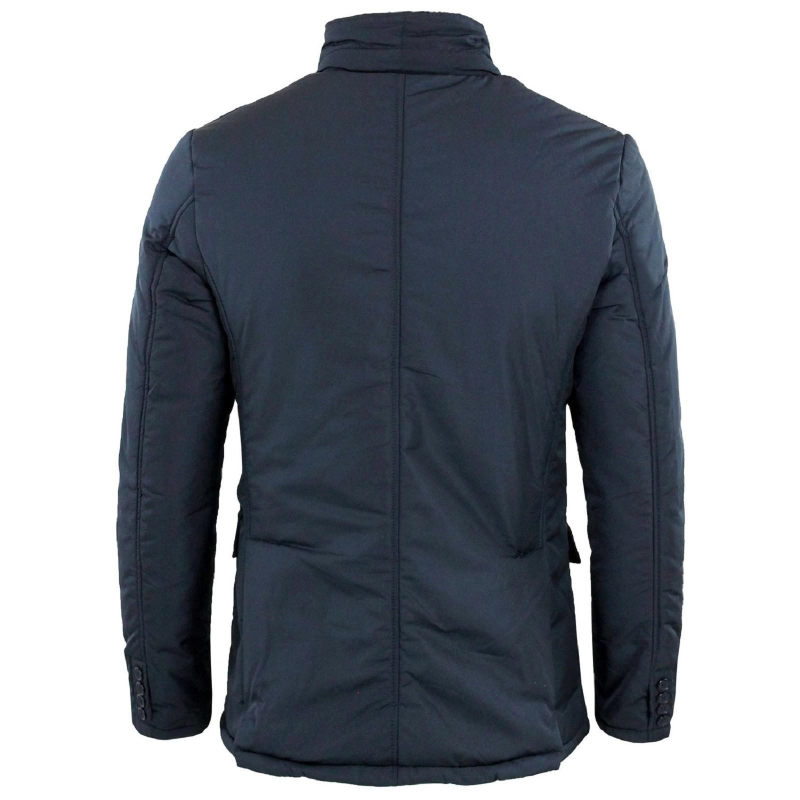 Giubbotto-Uomo-Invernale-Slim-Fit-Giacca-Elegante-Blu-Nero-Giubbino-Sartoriale-L miniatura 15