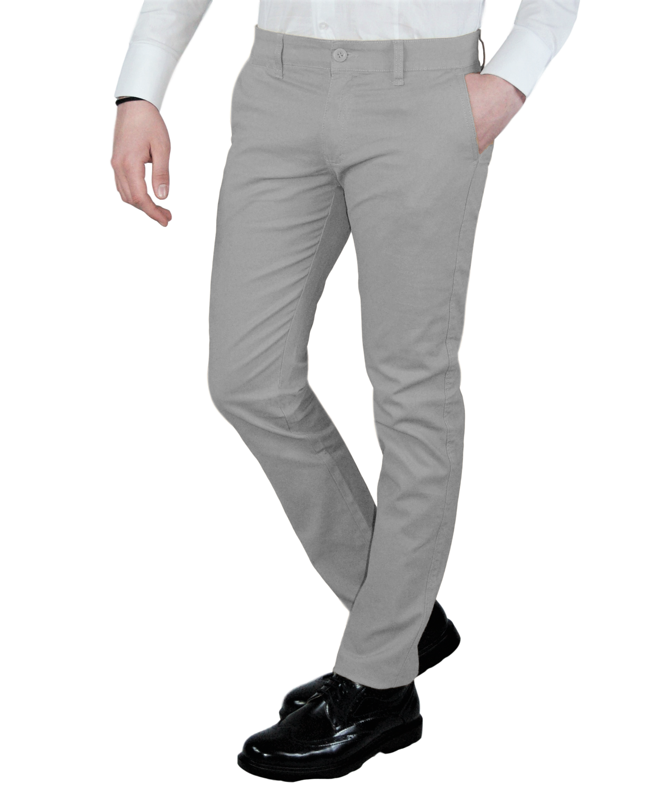 Pantalone-Uomo-Chino-Invernale-slim-fit-Pantaloni-Eleganti-Blu-Verde-Nero miniatura 34