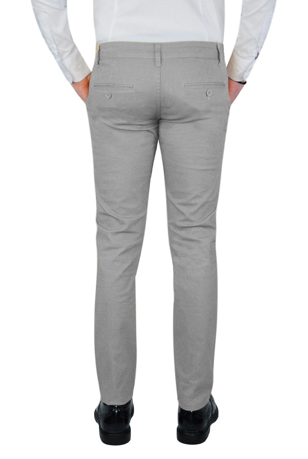Pantalone-Uomo-Chino-Invernale-slim-fit-Pantaloni-Eleganti-Blu-Verde-Nero miniatura 35
